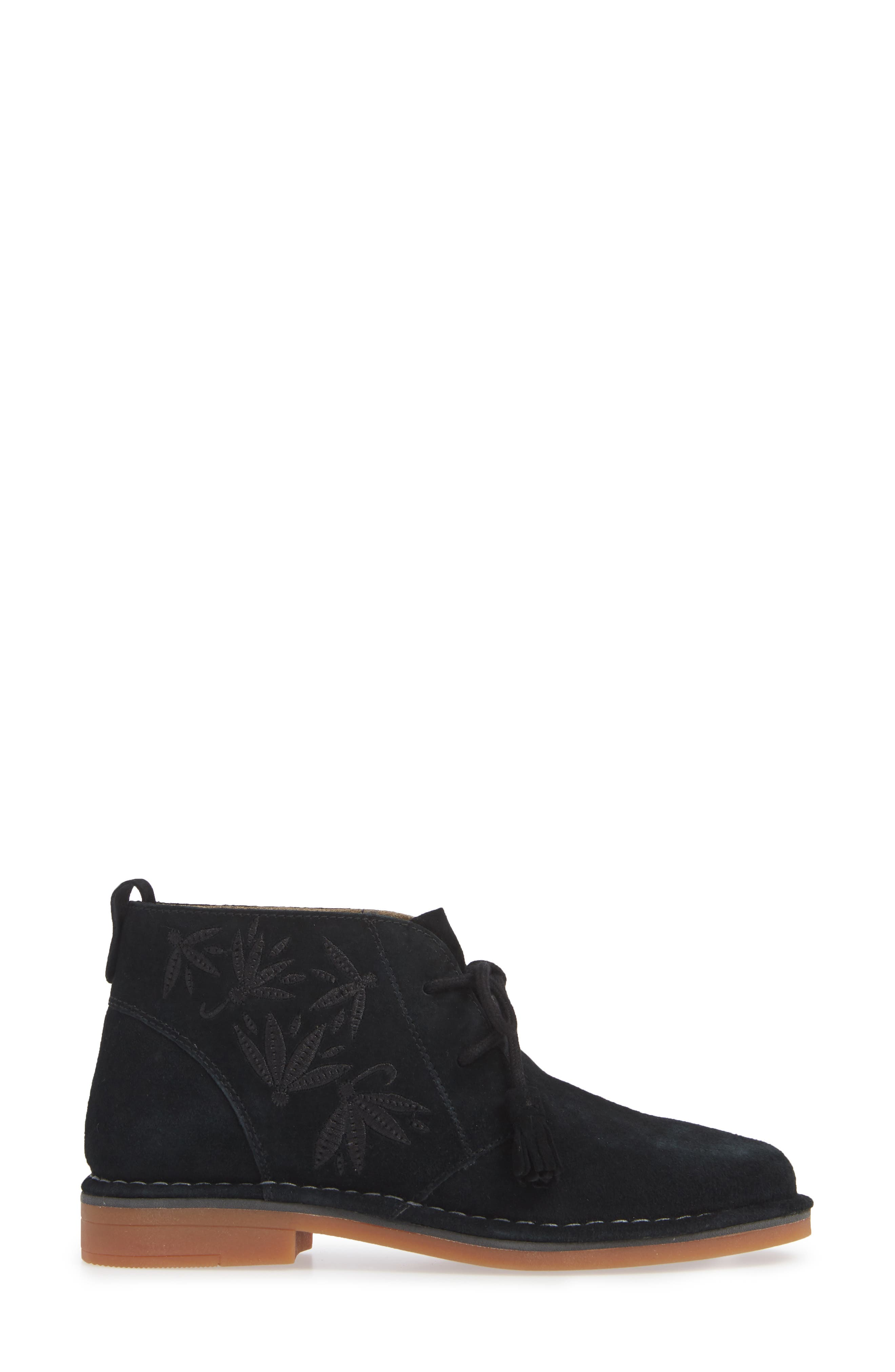 HUSH PUPPIES<SUP>®</SUP>,                             Cyra Catelyn Chukka Bootie,                             Alternate thumbnail 3, color,                             BLACK SUEDE