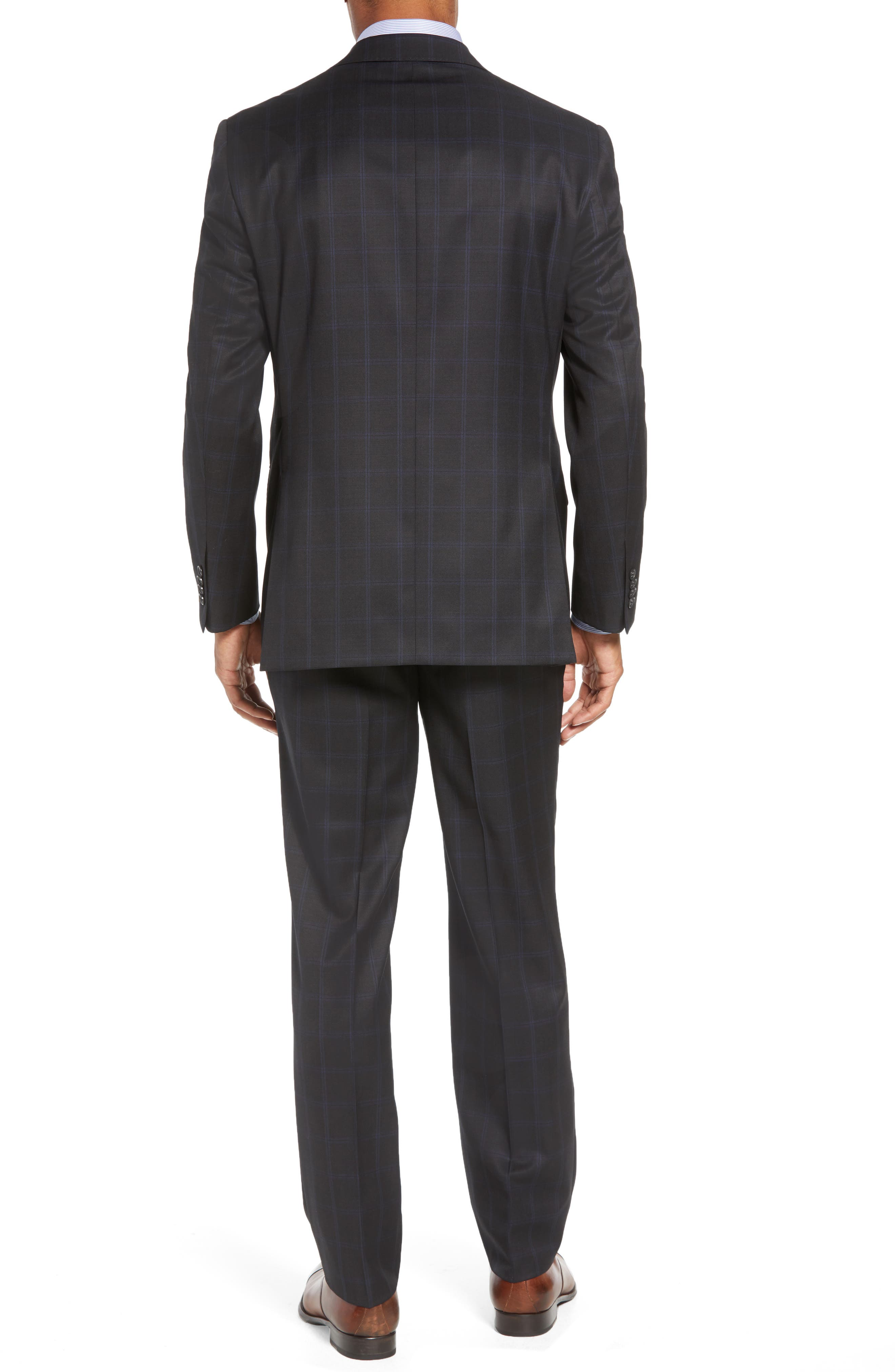 Ryan Classic Fit Windowpane Wool Suit,                             Alternate thumbnail 2, color,                             CHARCOAL
