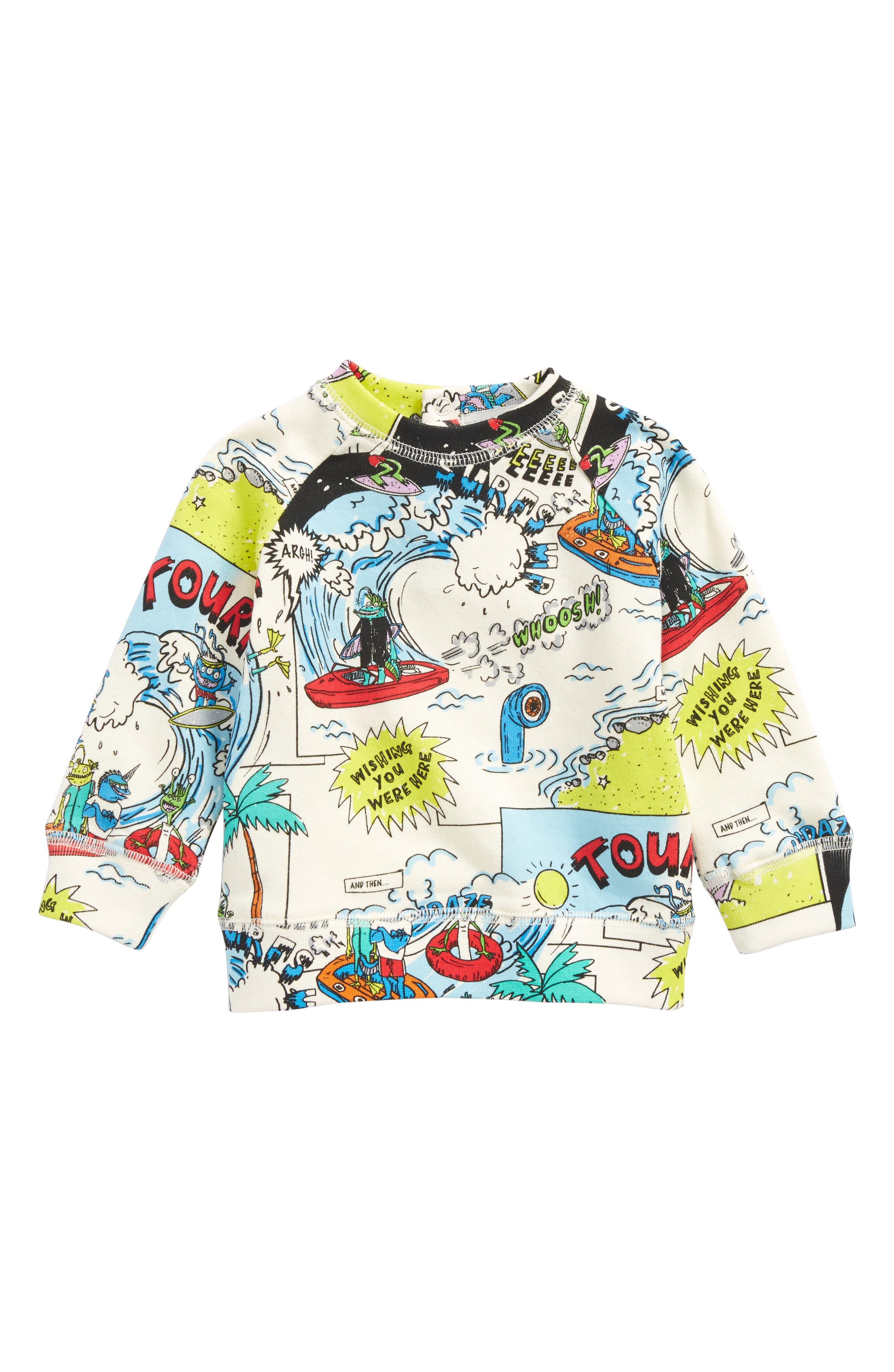Billy Cartoon Print Sweatshirt,                         Main,                         color,