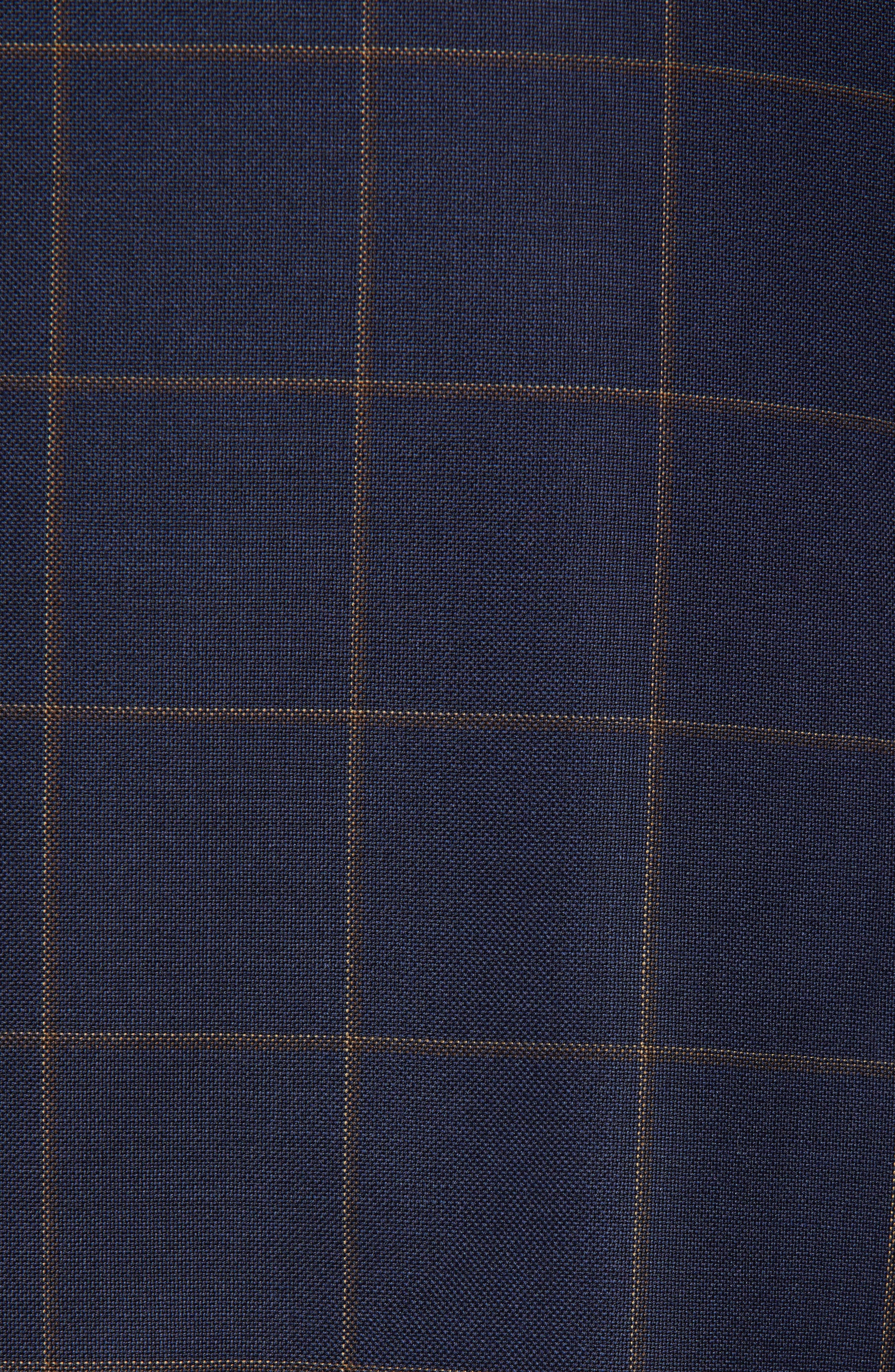 PETER MILLAR,                             Flynn Classic Fit Windowpane Wool Suit,                             Alternate thumbnail 7, color,                             NAVY