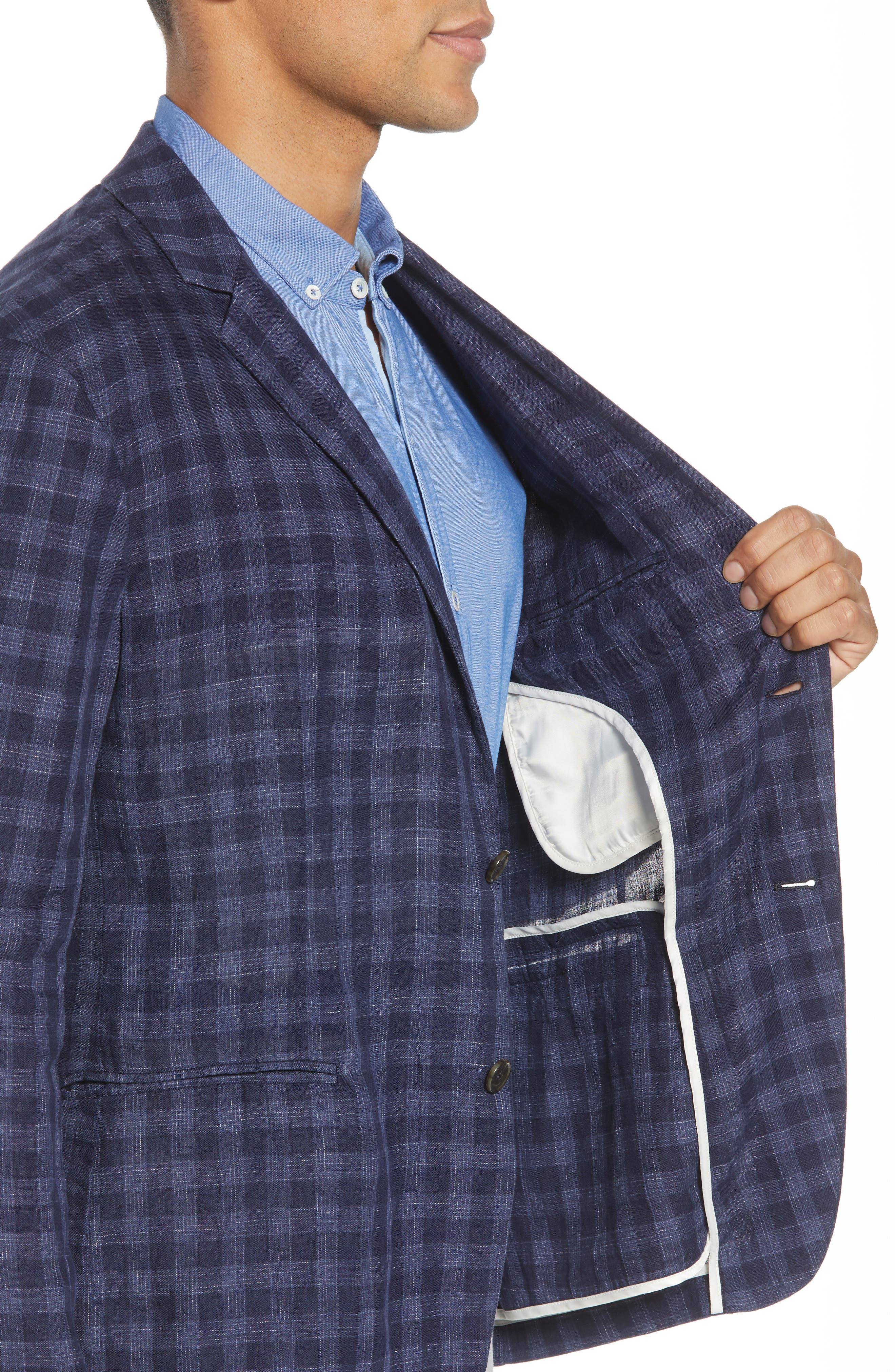 Bowser Regular Fit Sport Coat,                             Alternate thumbnail 3, color,                             NAVY