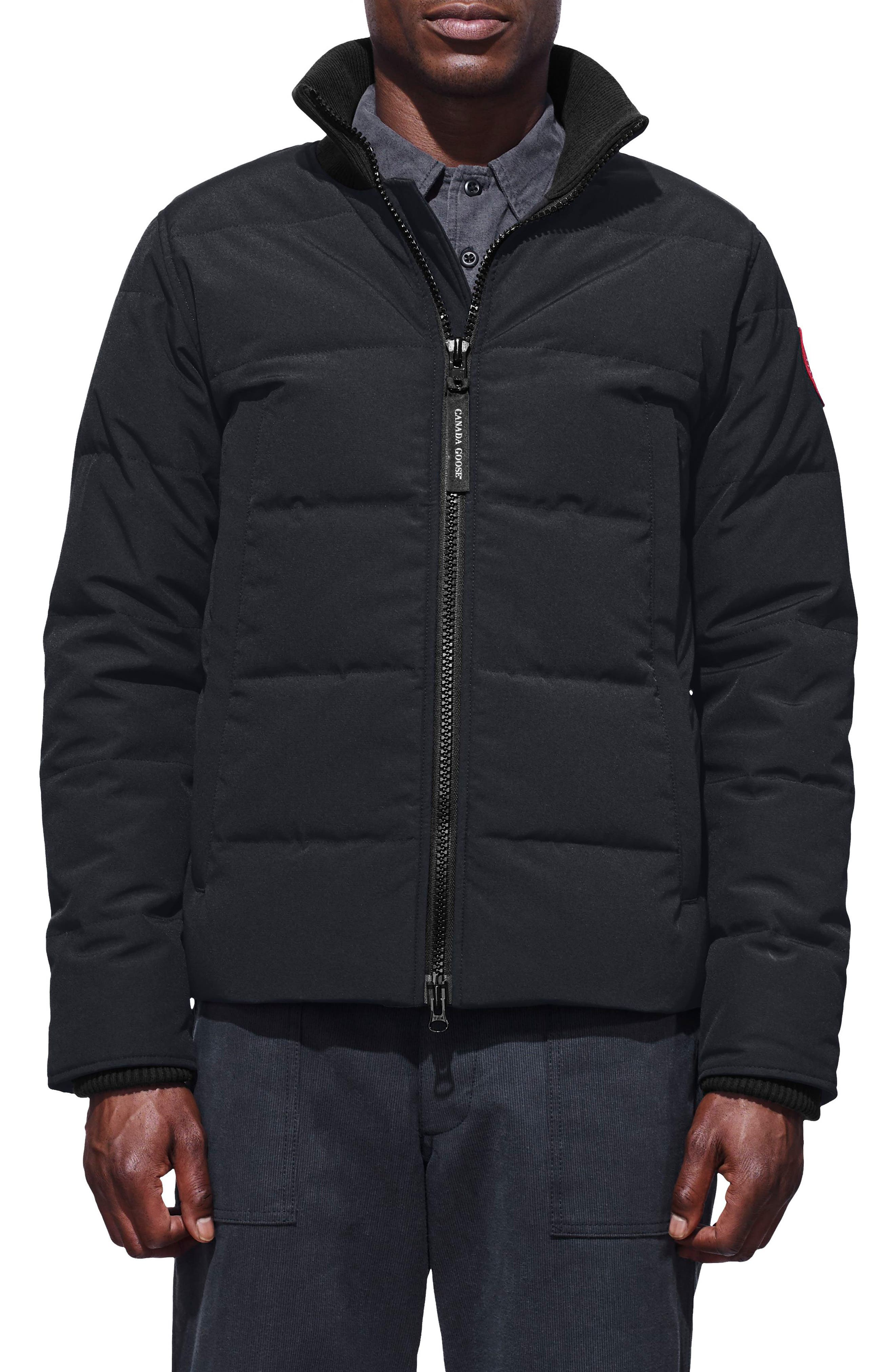 CANADA GOOSE,                             Woolford Fusion Fit Down Jacket,                             Main thumbnail 1, color,                             NAVY