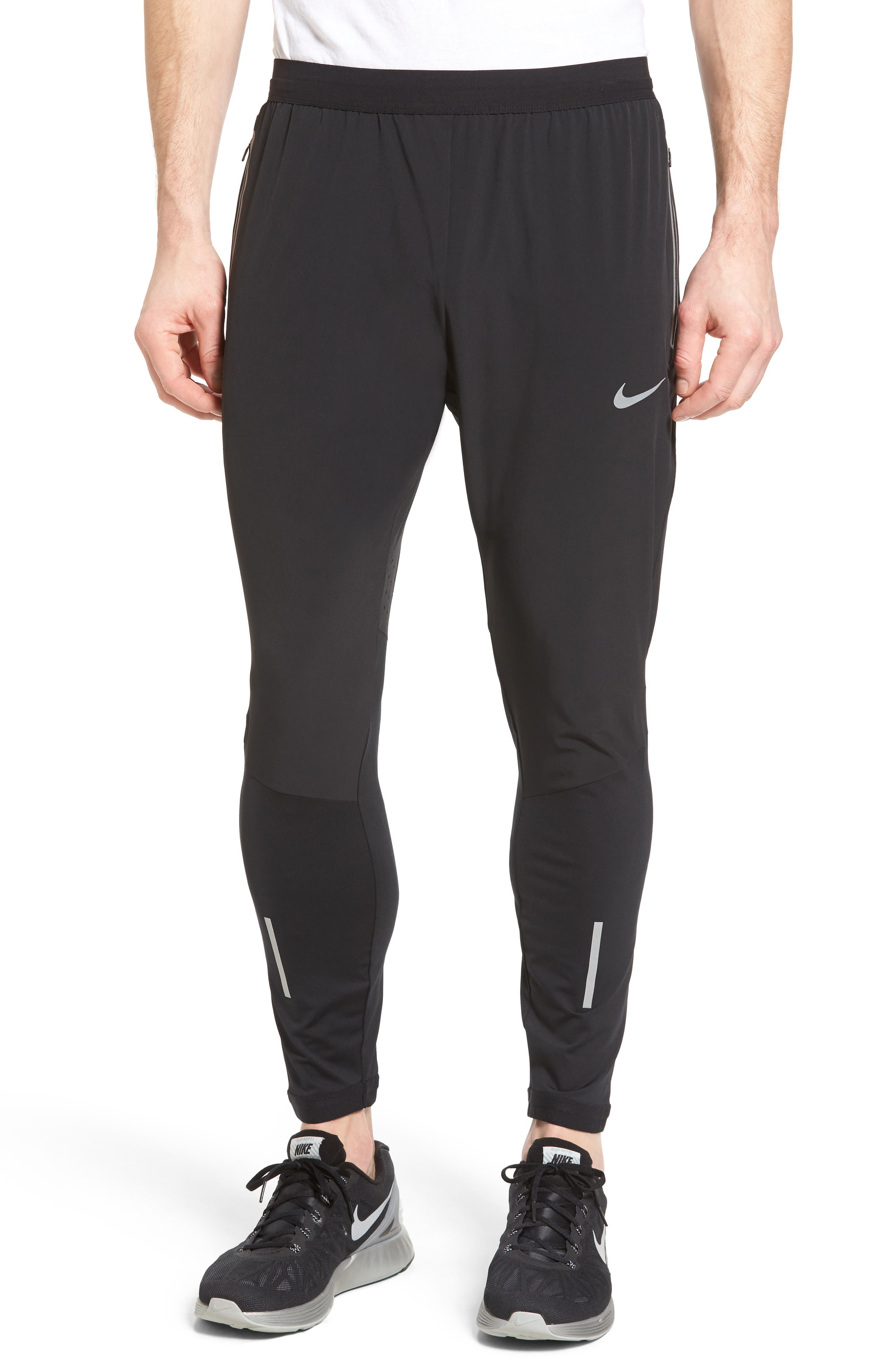 Flex Running Pants,                         Main,                         color, BLACK/ PURE PLATINUM