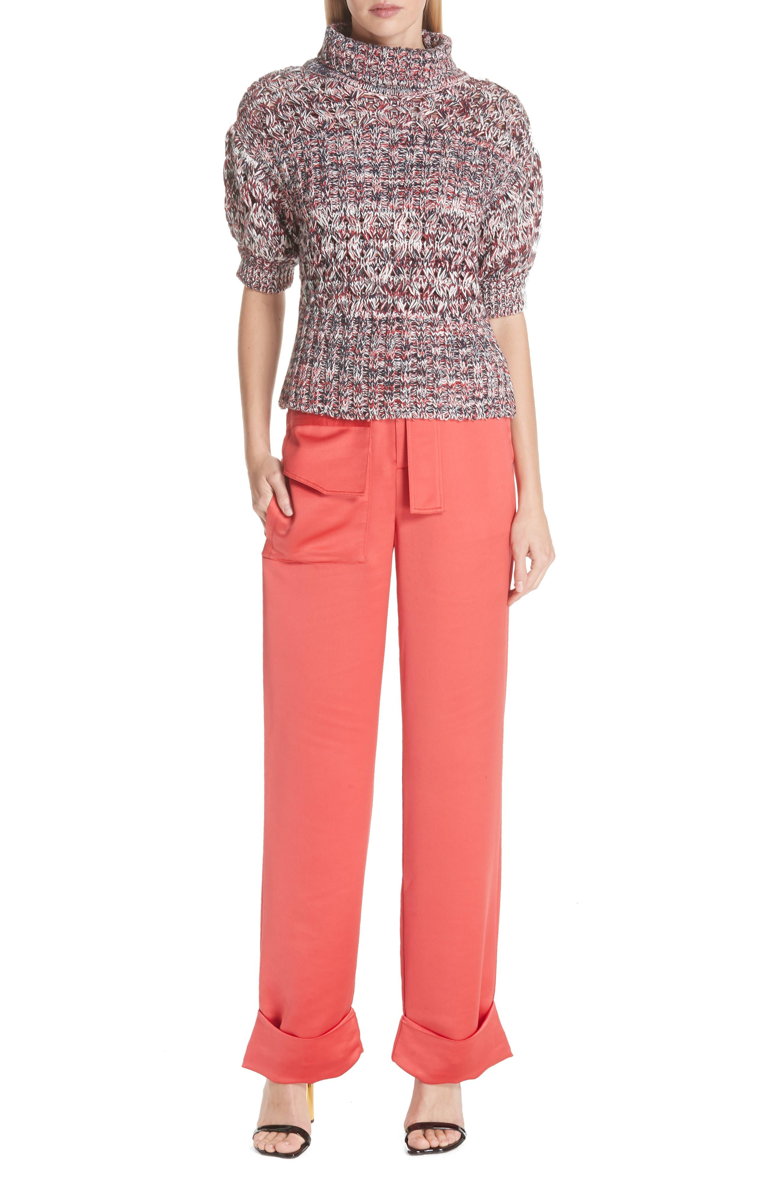 Mélange Cotton & Wool Sweater,                             Alternate thumbnail 7, color,                             600