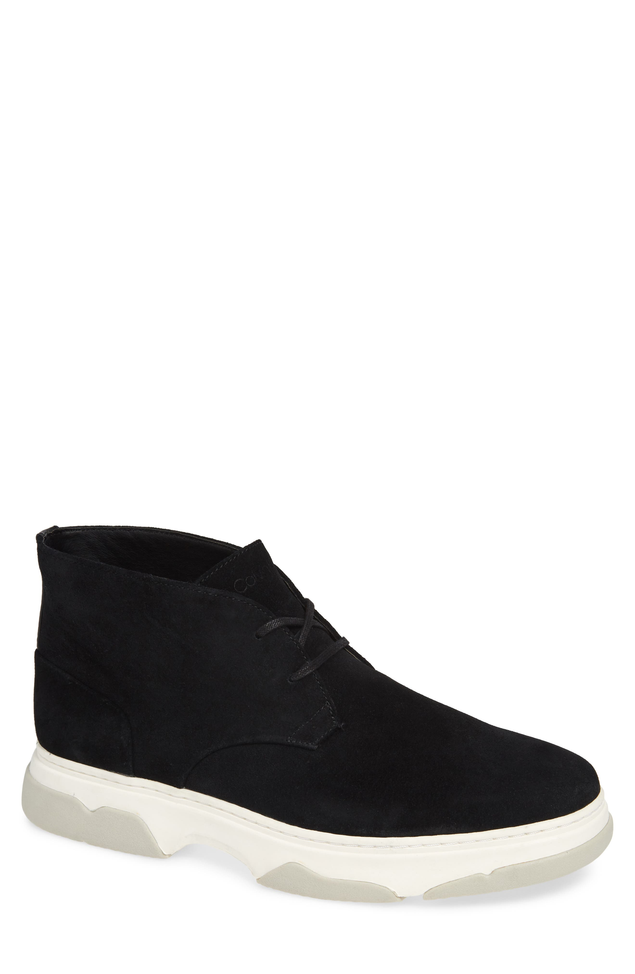 Perry Chukka Boot,                         Main,                         color, BLACK CALF SUEDE