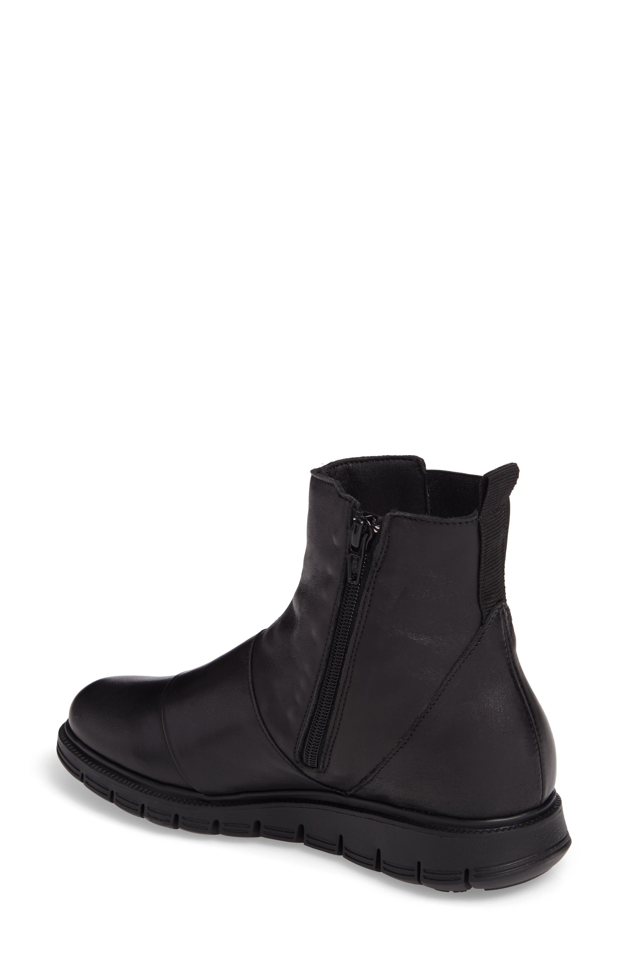 Gish Water-Resistant Bootie,                             Alternate thumbnail 2, color,                             BLACK LEATHER