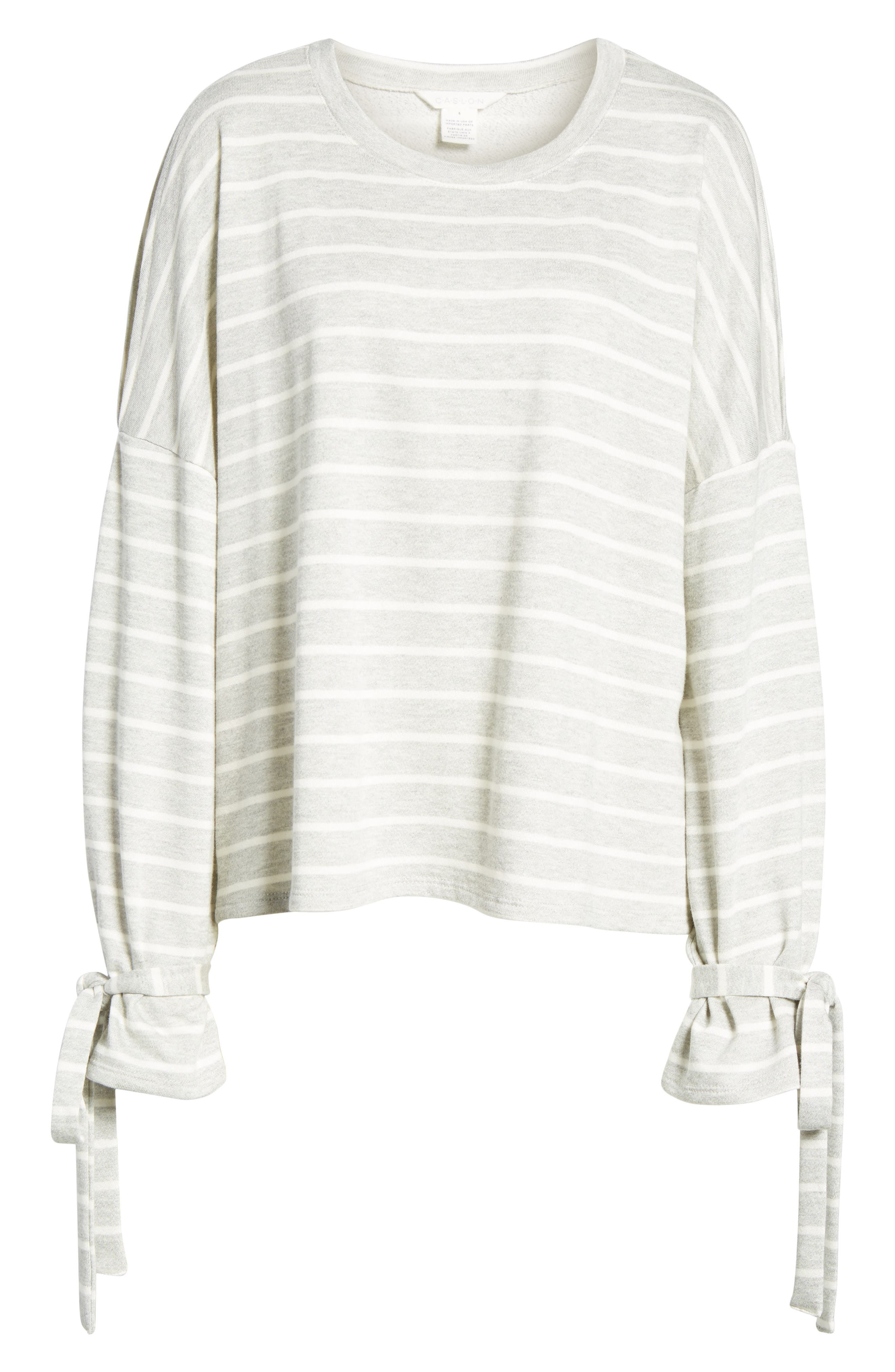 Calson<sup>®</sup> Cold Shoulder Tie Sleeve Tee,                             Alternate thumbnail 6, color,                             030