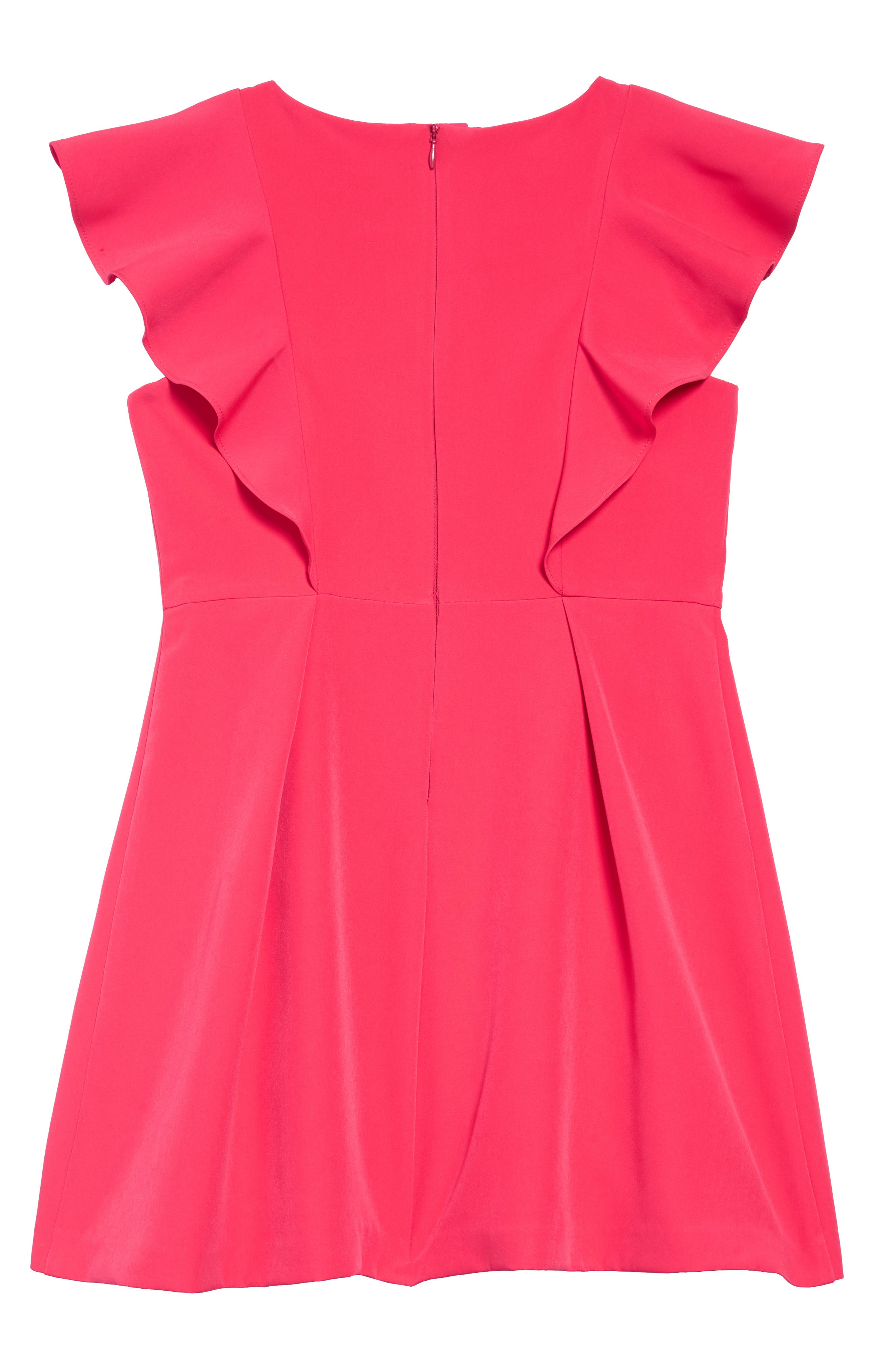 MILLY MINIS,                             Rylie Cady Ruffle Dress,                             Alternate thumbnail 2, color,                             GUAVA