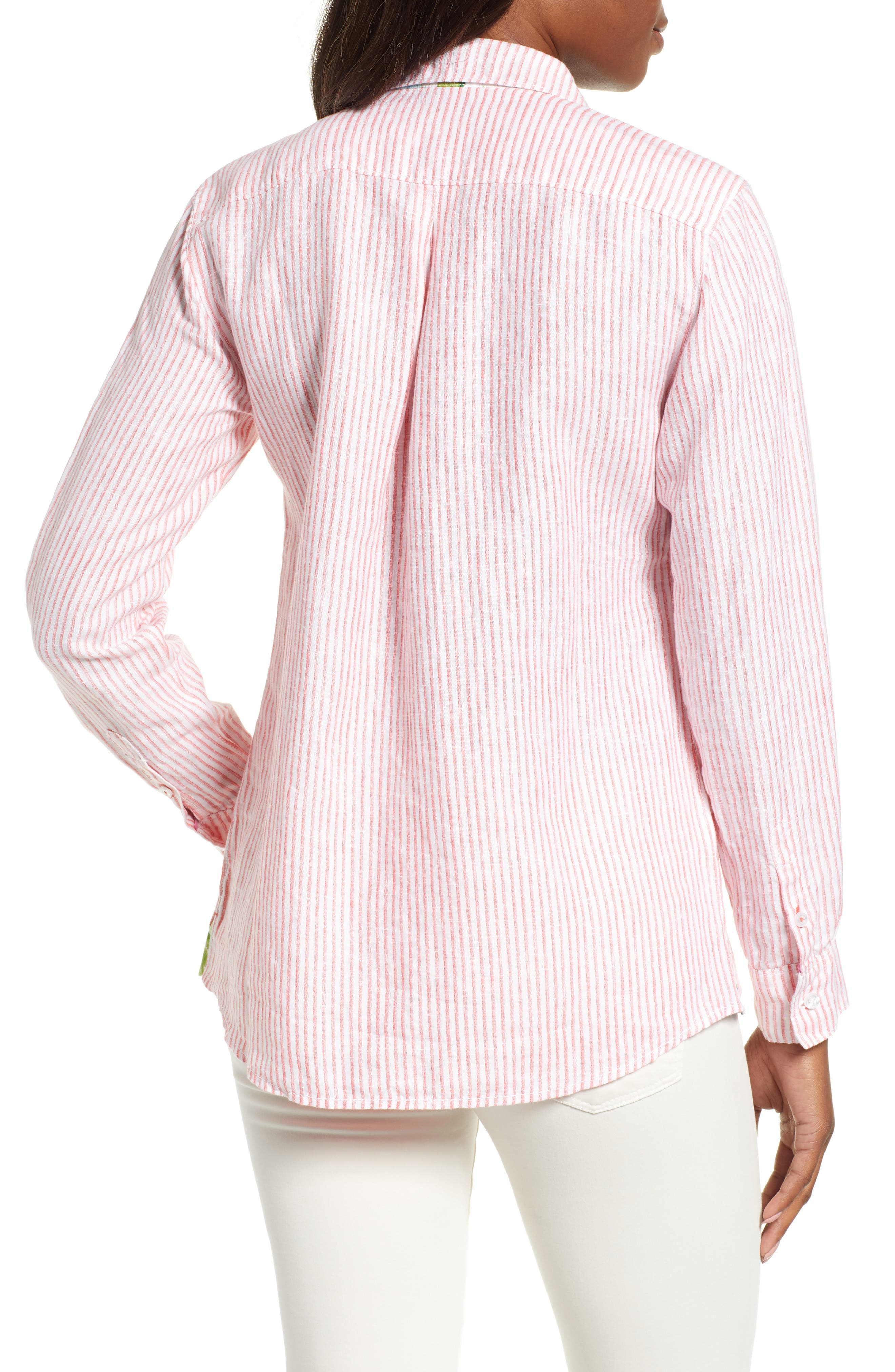 Crystalline Waters Long Sleeve Shirt,                             Alternate thumbnail 2, color,                             DUBARRY CORAL