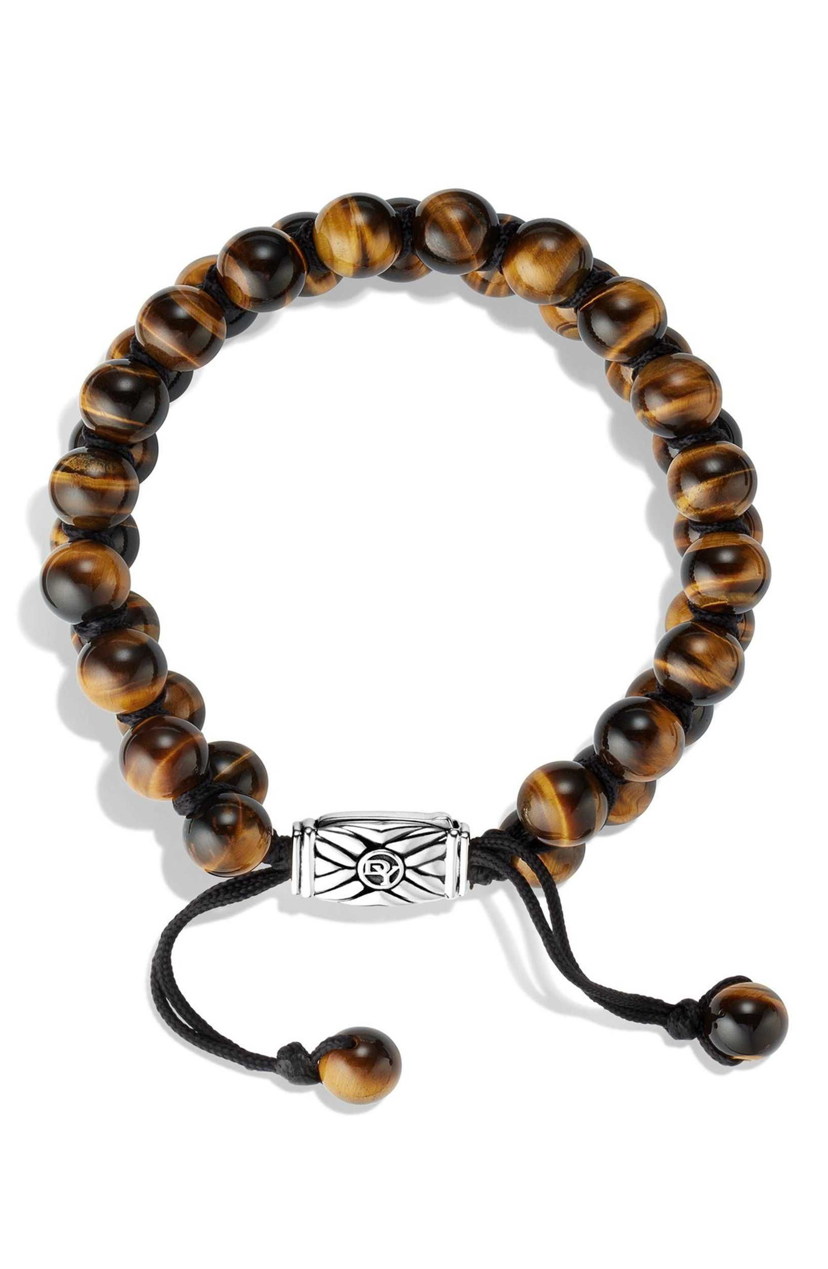 'Spiritual Beads' Two-Row Bracelet with Malachite,                             Alternate thumbnail 2, color,                             TIGERS EYE