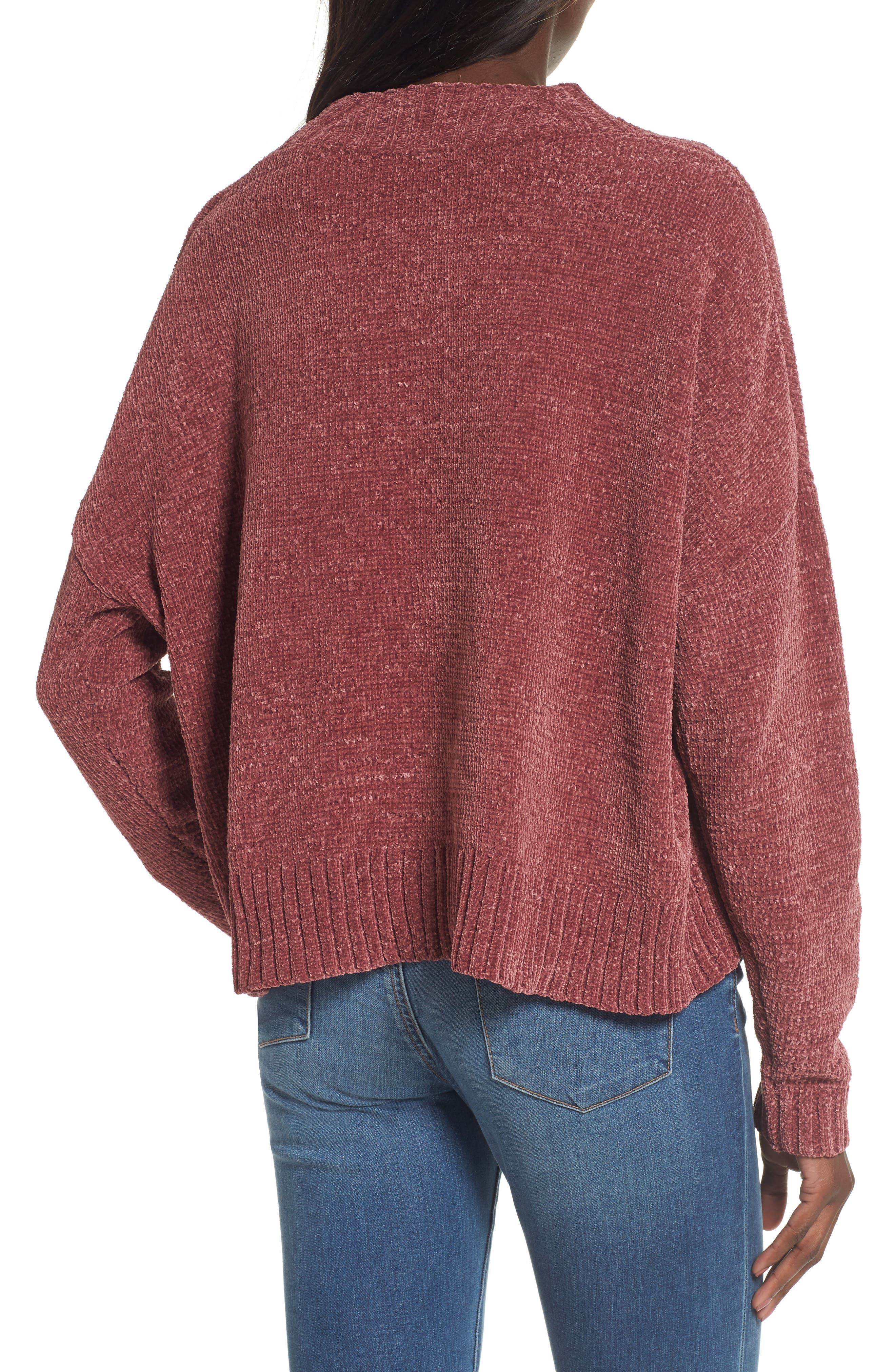 Chenille Funnel Neck Sweater,                             Alternate thumbnail 10, color,