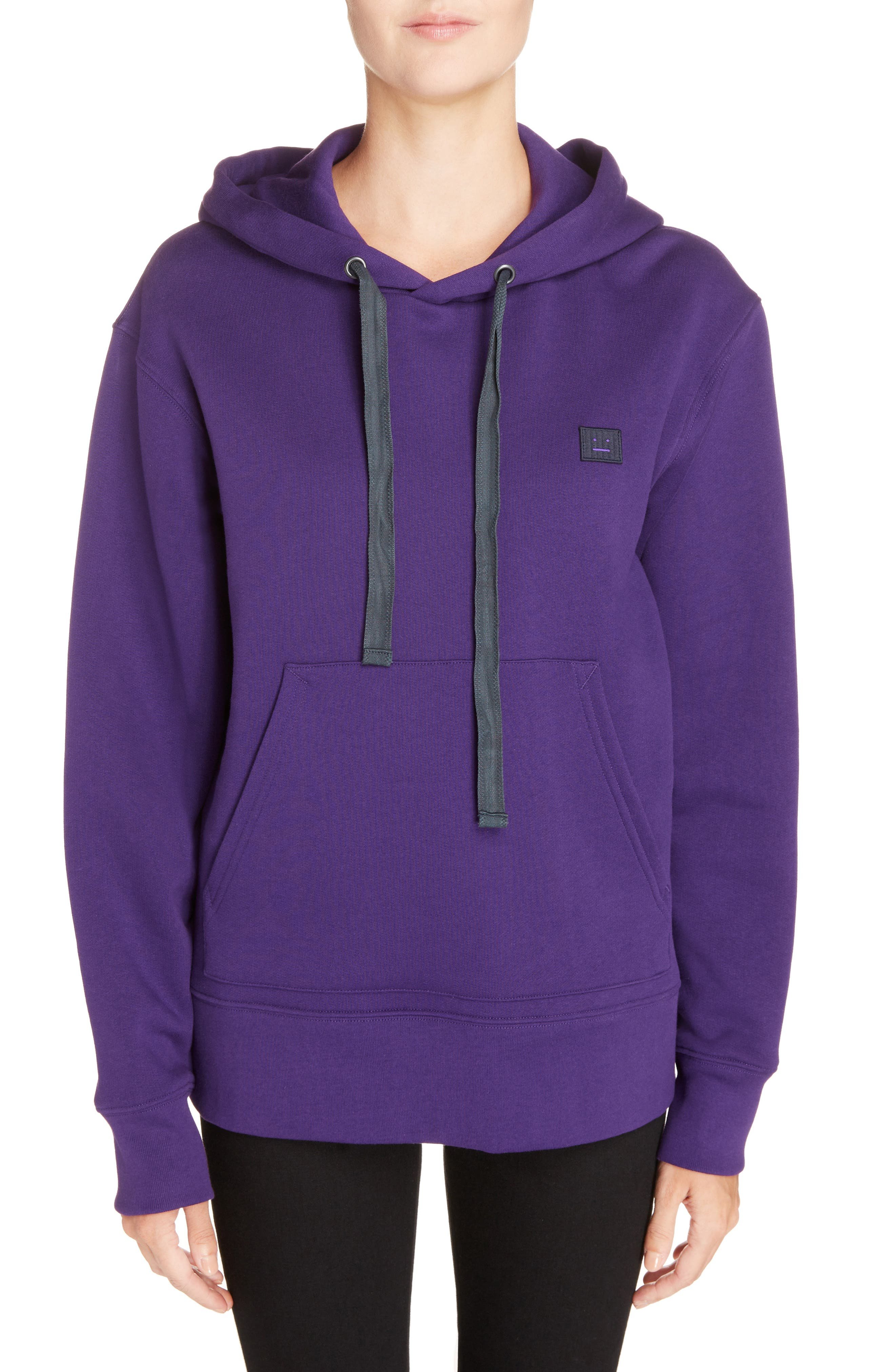 Ferris Face Hoodie,                             Main thumbnail 1, color,                             PURPLE