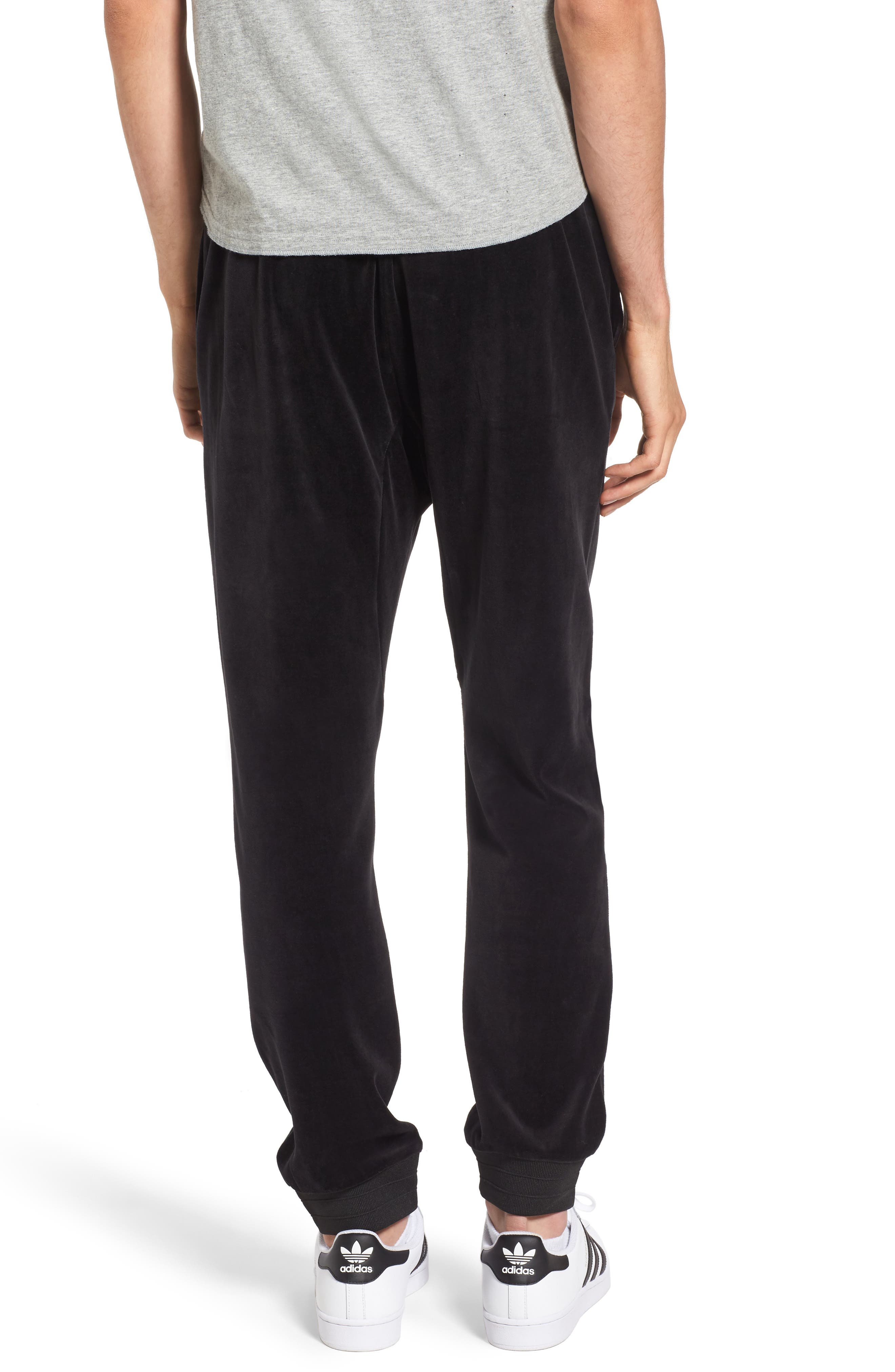 Velour Jogger Pants,                             Alternate thumbnail 2, color,                             001
