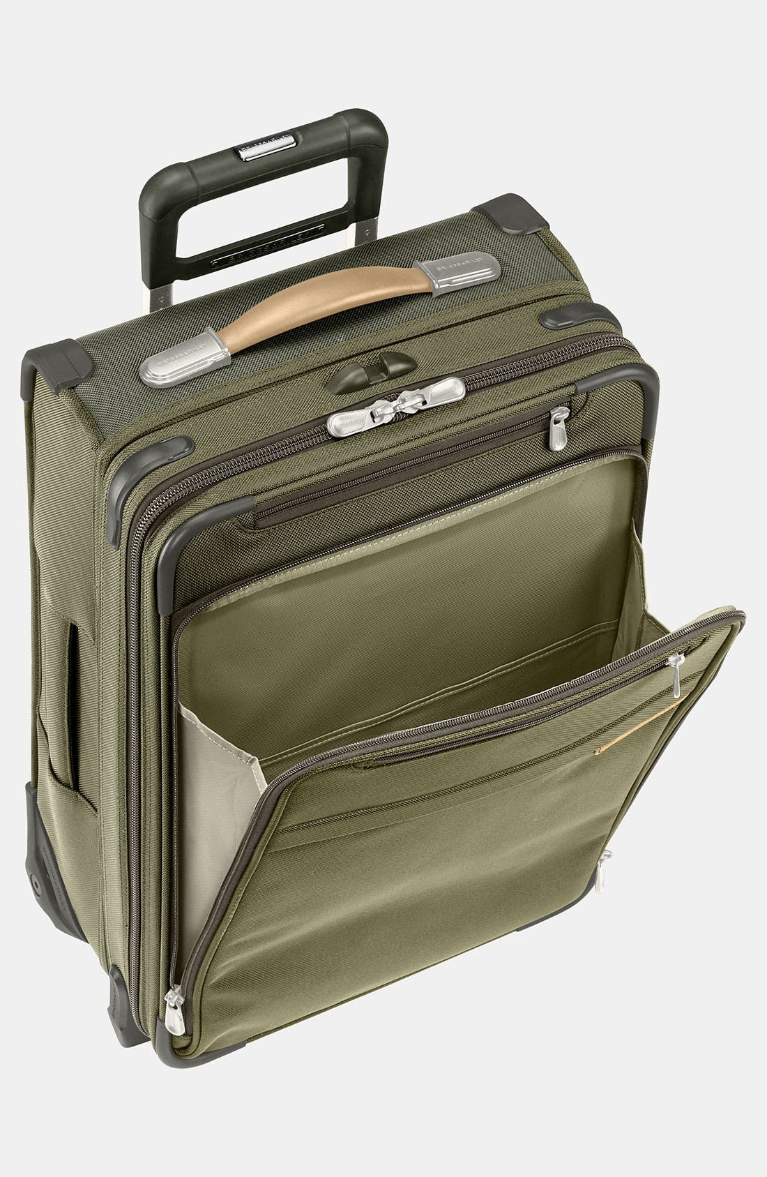 Baseline International 22-Inch Expandable Rolling Carry-On,                             Alternate thumbnail 4, color,                             OLIVE