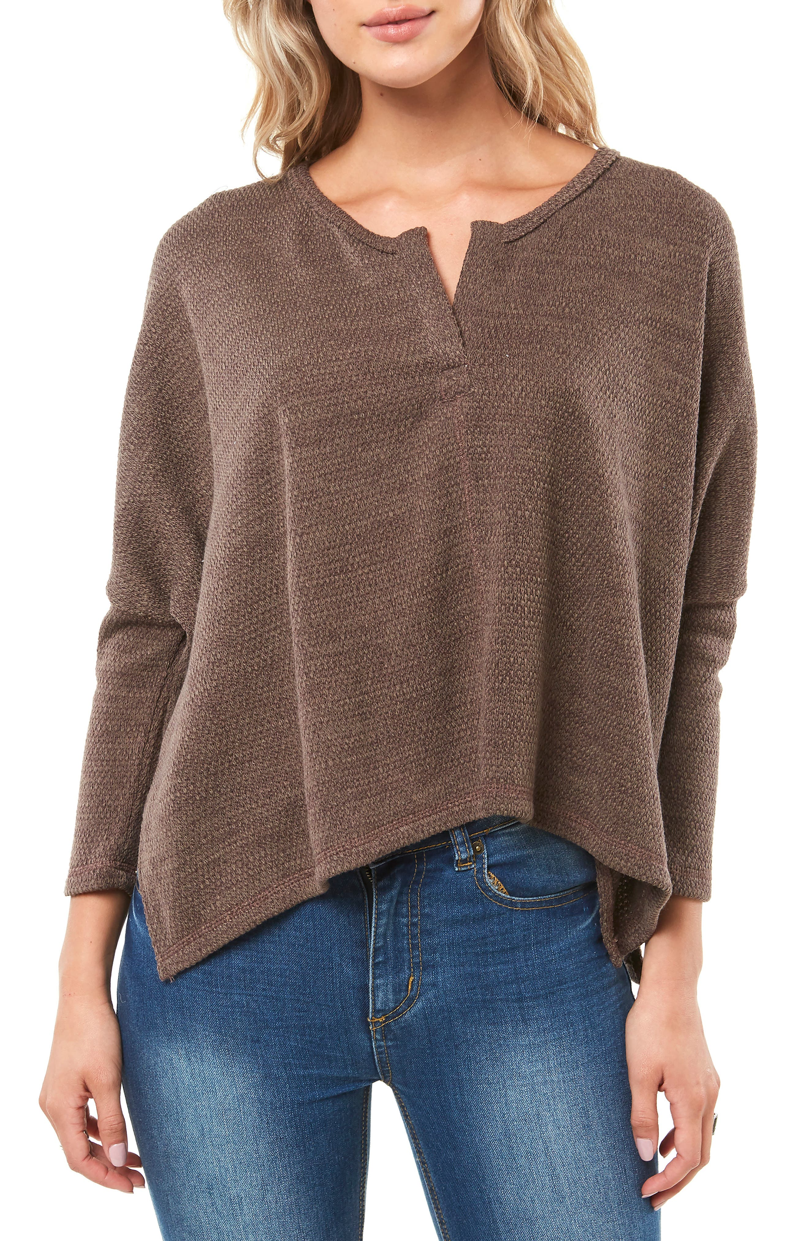 Pines Knit Top,                         Main,                         color, PEPPERCORN