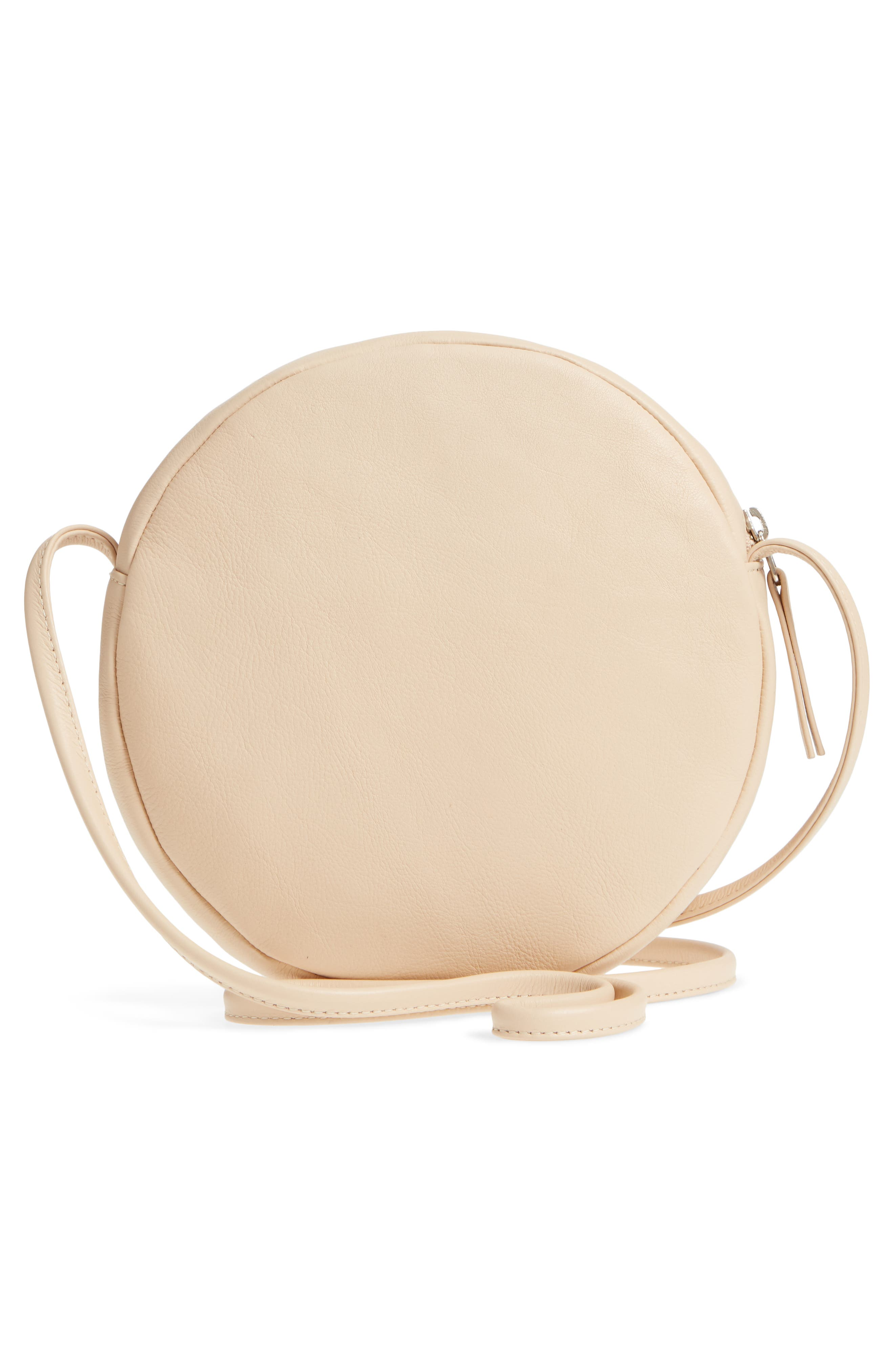 Circle Calfskin Leather Crossbody Bag,                             Alternate thumbnail 9, color,