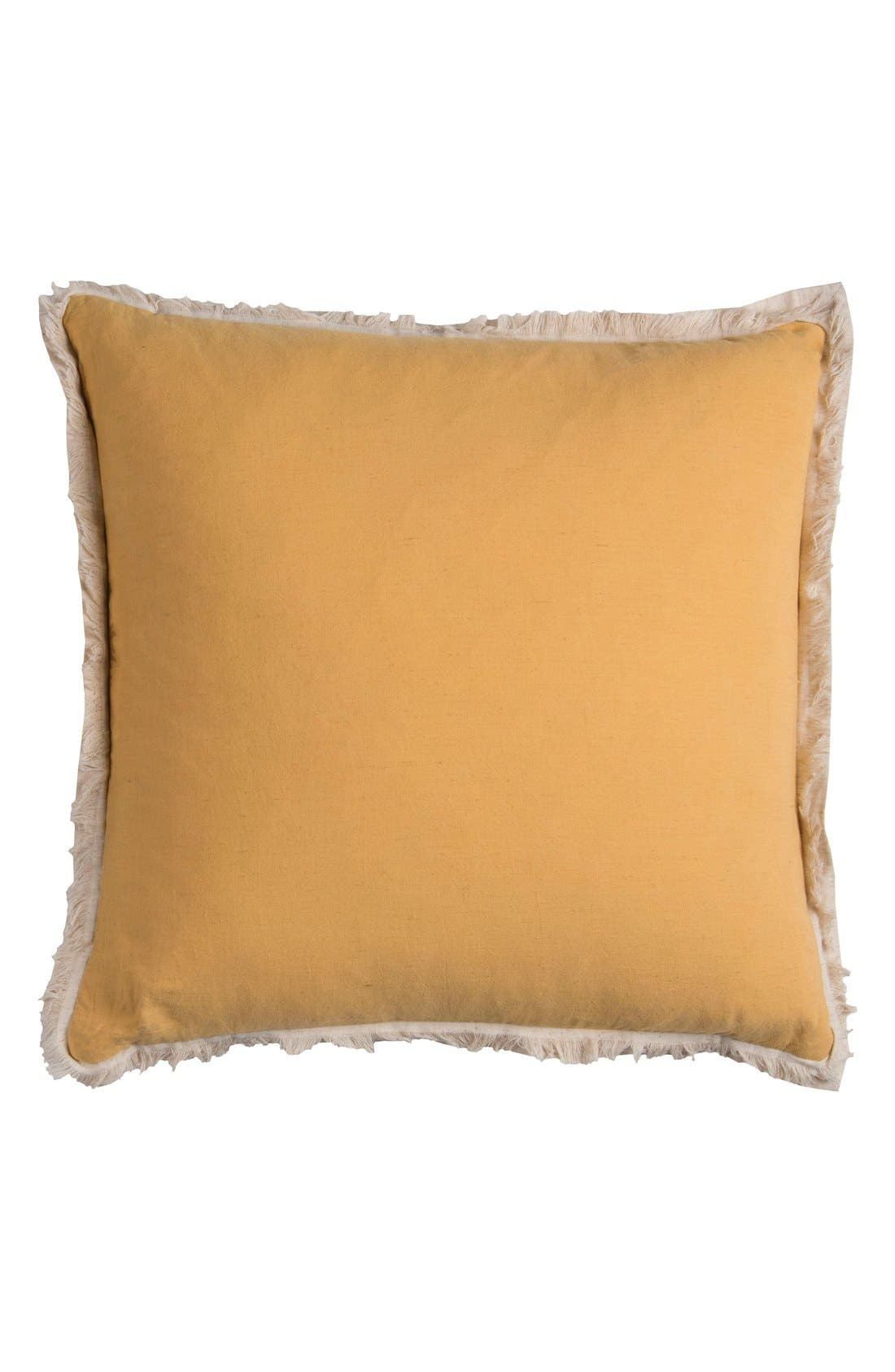Fringe Accent Pillow,                             Main thumbnail 1, color,                             100