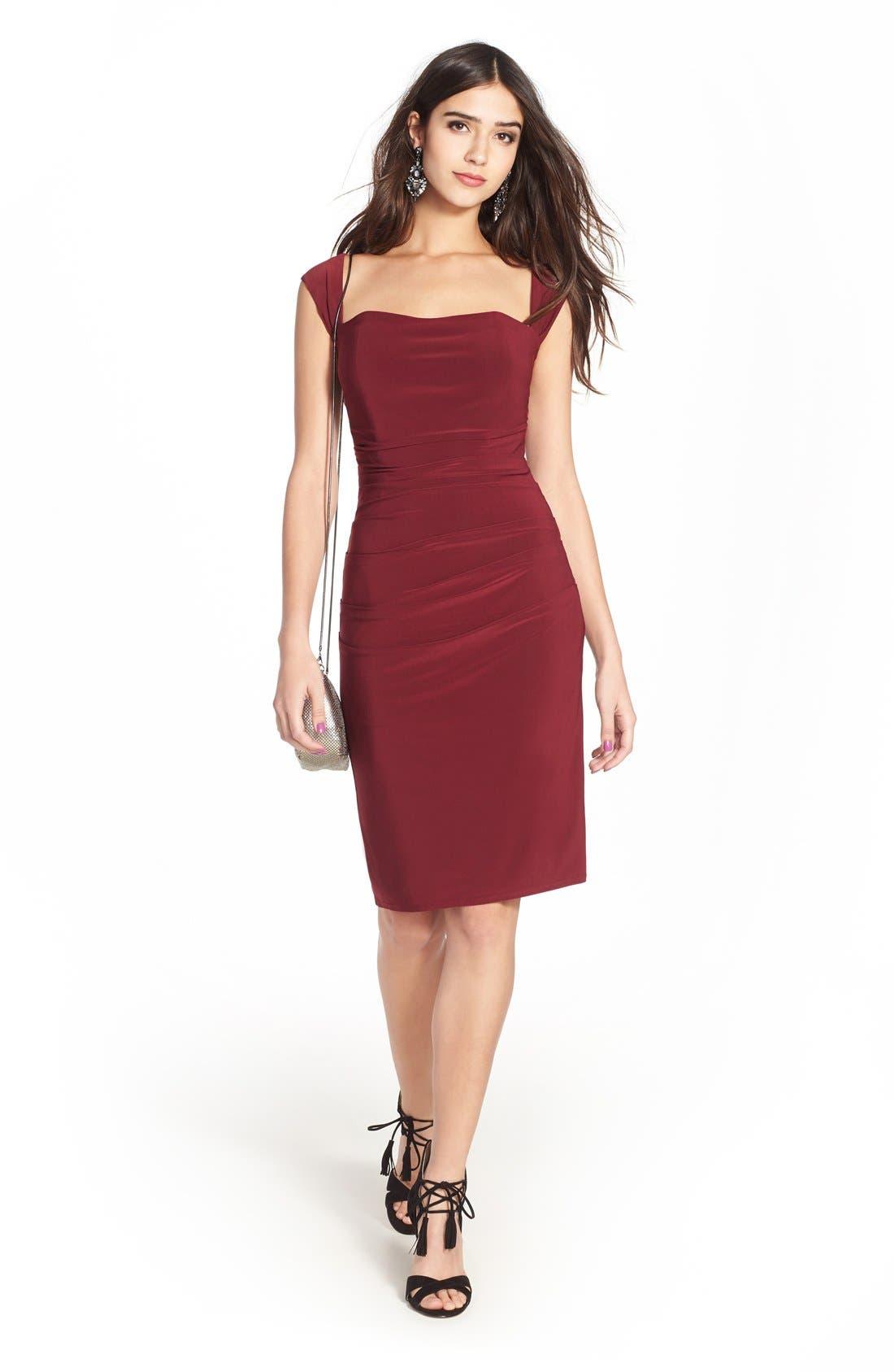 Twist Back Jersey Body-Con Dress,                             Alternate thumbnail 17, color,