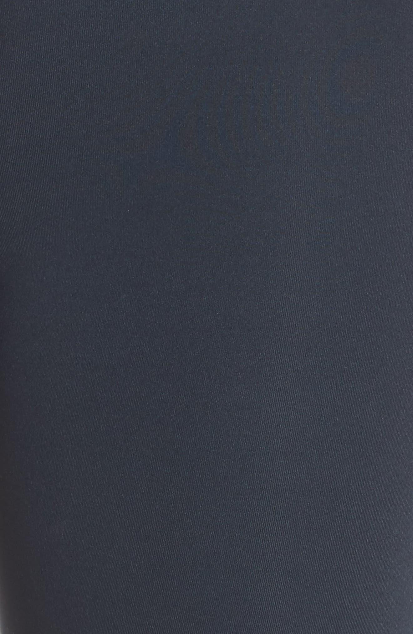 Colorblock Matte Midi Pants,                             Alternate thumbnail 6, color,                             INDIGO/ PALE BLUE