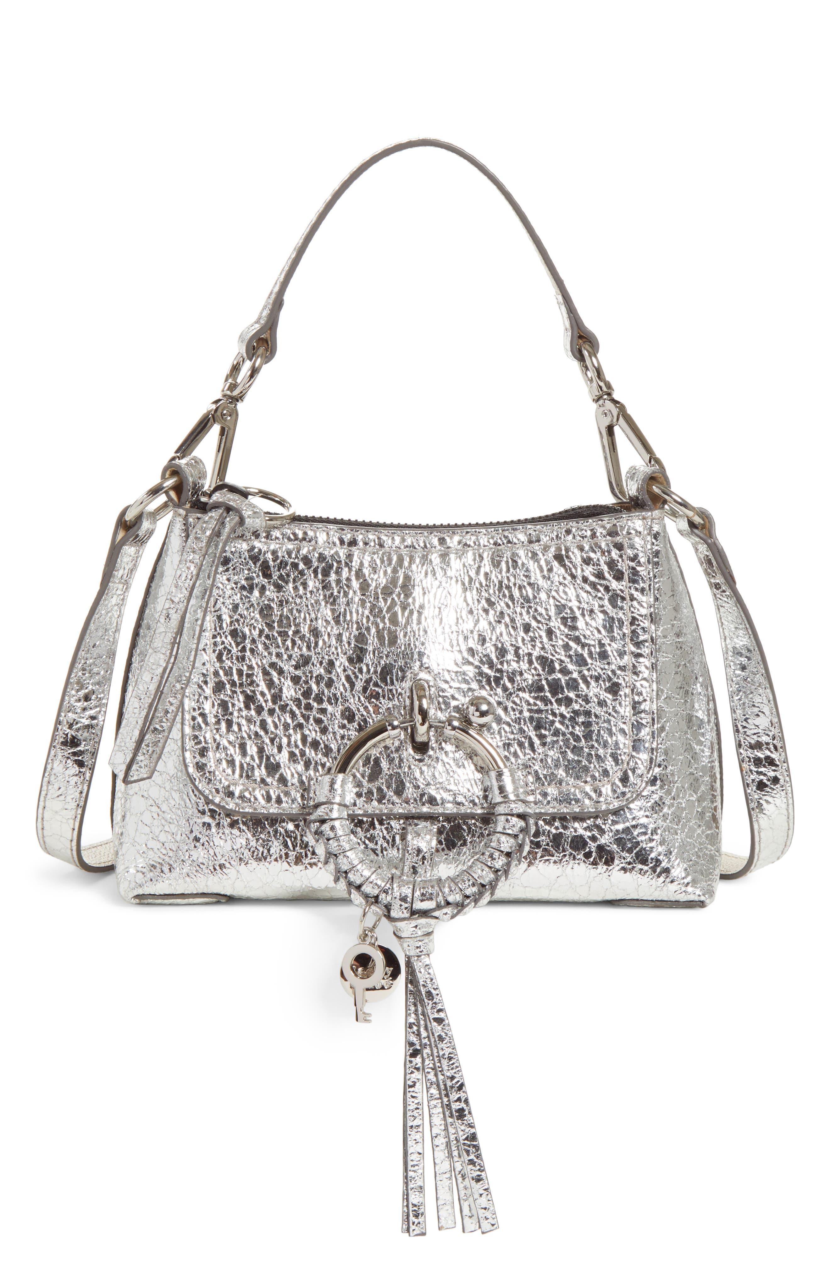 See By Chloe Mini Joan Metallic Leather Crossbody Bag - Metallic