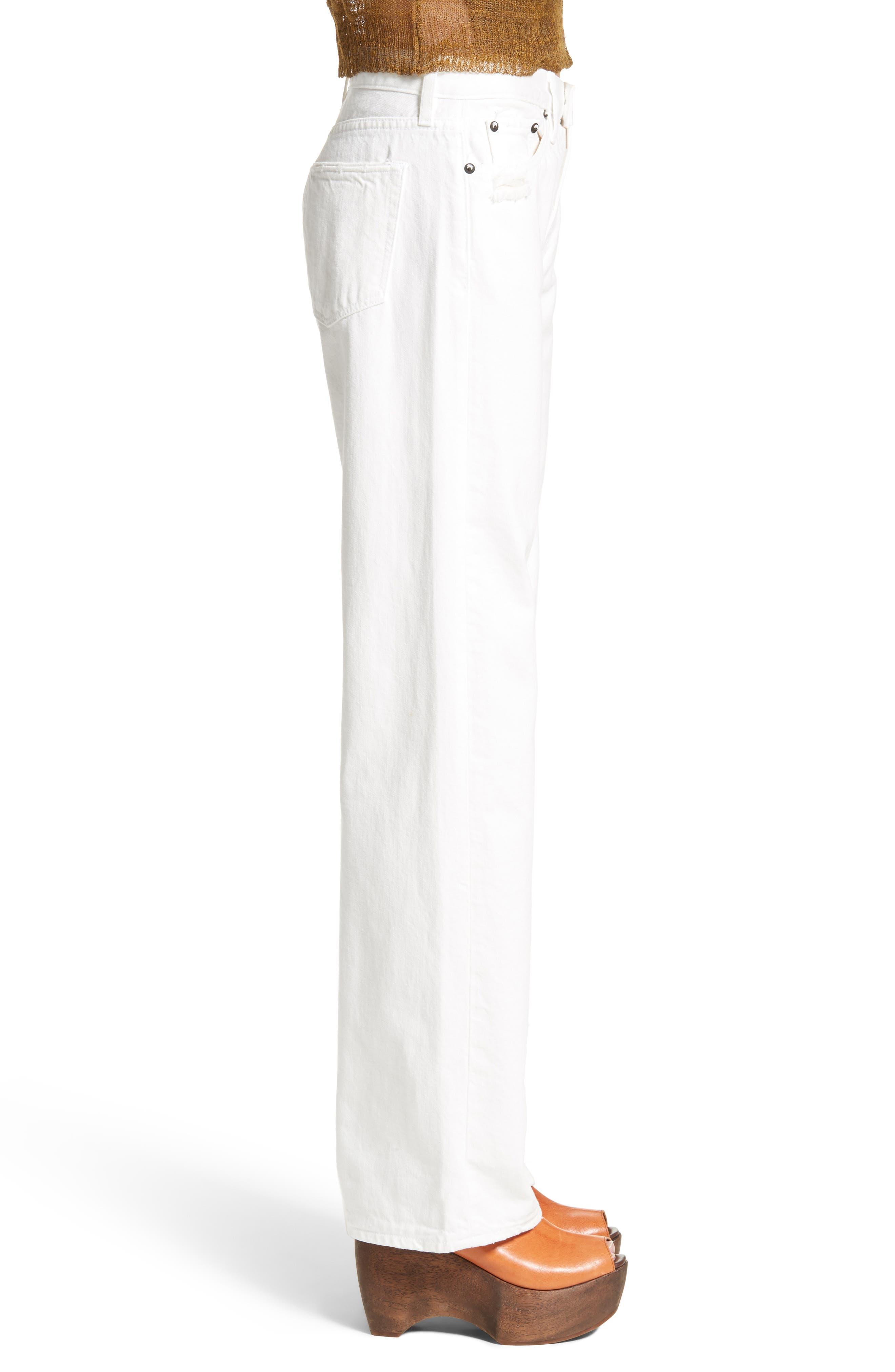 Latta Ankle Jeans,                             Alternate thumbnail 3, color,                             100