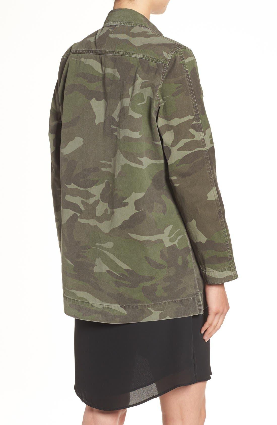 'Alexa' Camo Cotton Military Jacket,                             Alternate thumbnail 2, color,                             300