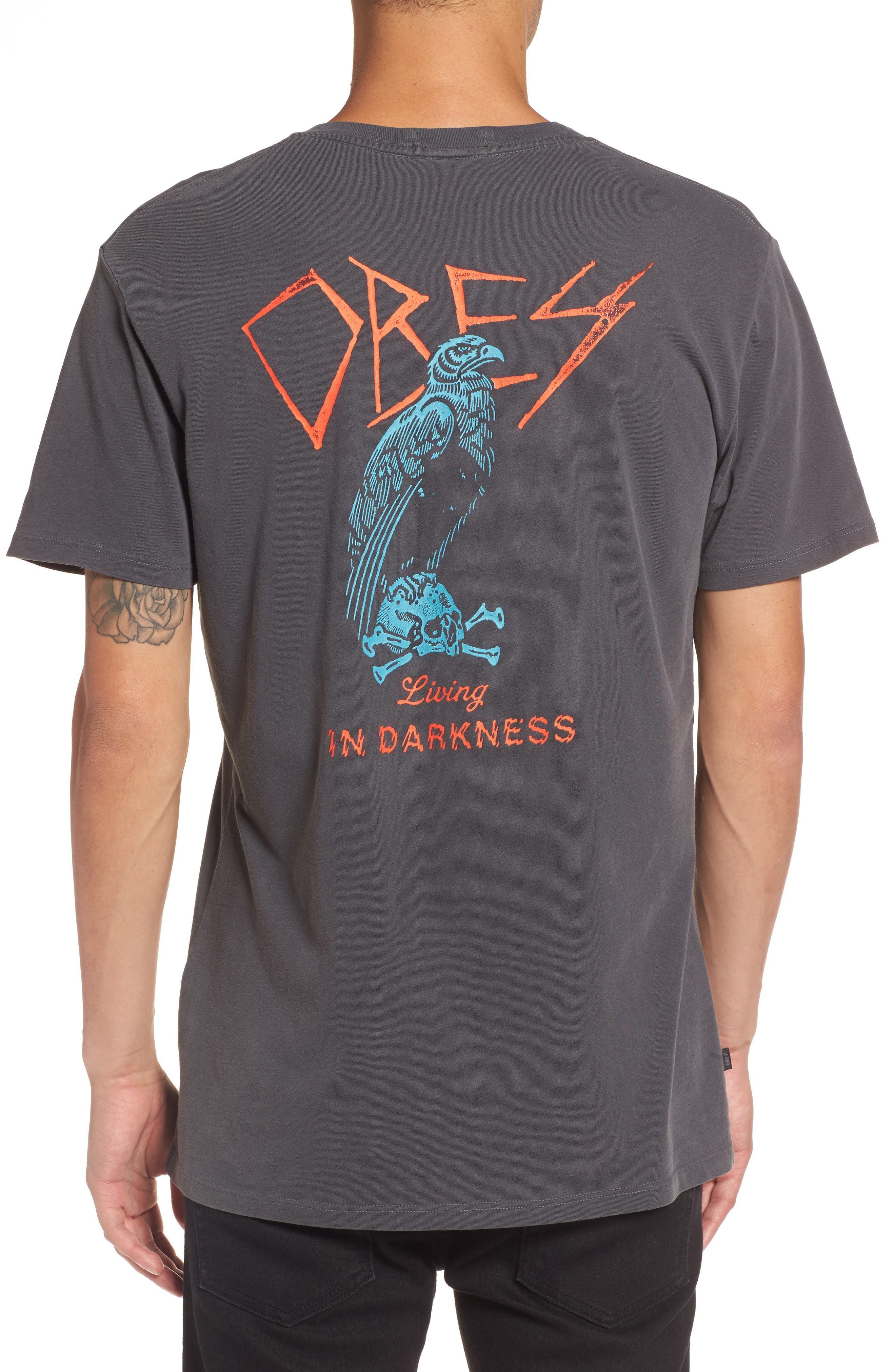 Living in Darkness T-Shirt,                             Alternate thumbnail 2, color,                             011