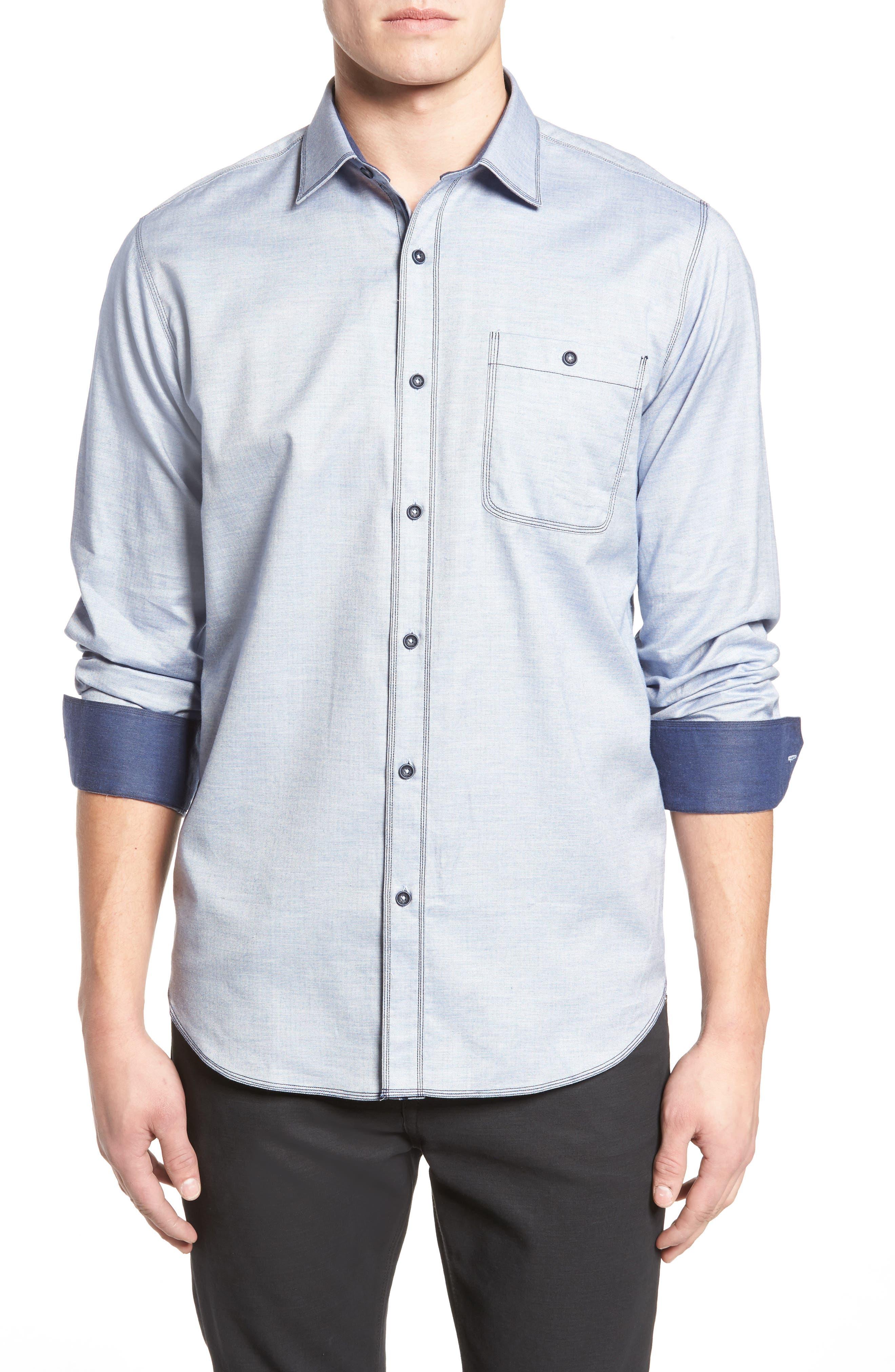Classic Fit Sport Shirt,                         Main,                         color, 459