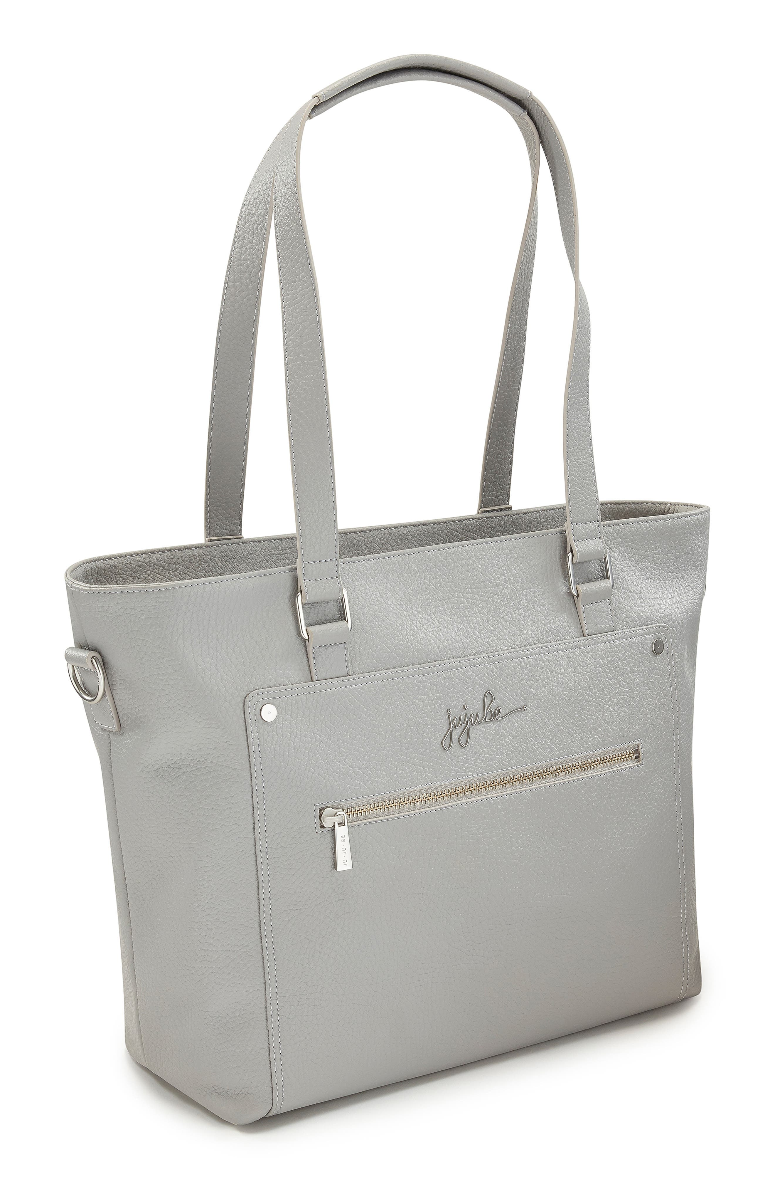 Ever Collection Everyday Faux Leather Diaper Tote,                             Alternate thumbnail 6, color,                             STONE