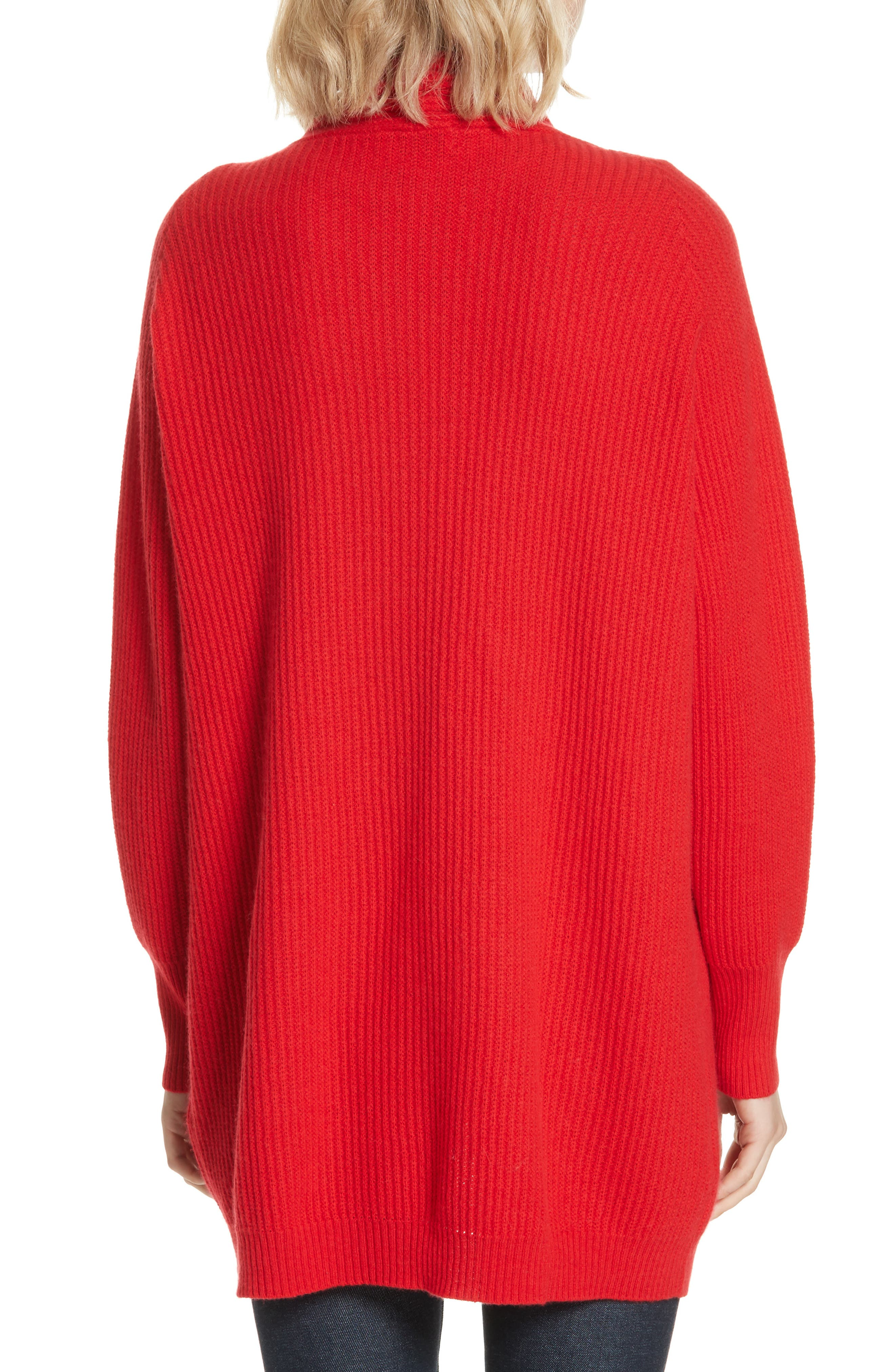 Cashmere Cardigan,                             Alternate thumbnail 2, color,                             RED