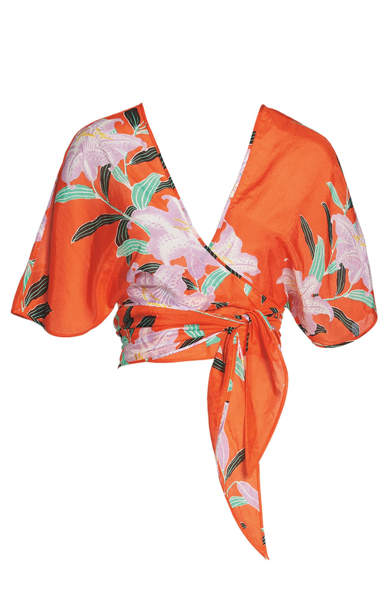 Wrap Cover-Up Top,                             Alternate thumbnail 8, color,                             802