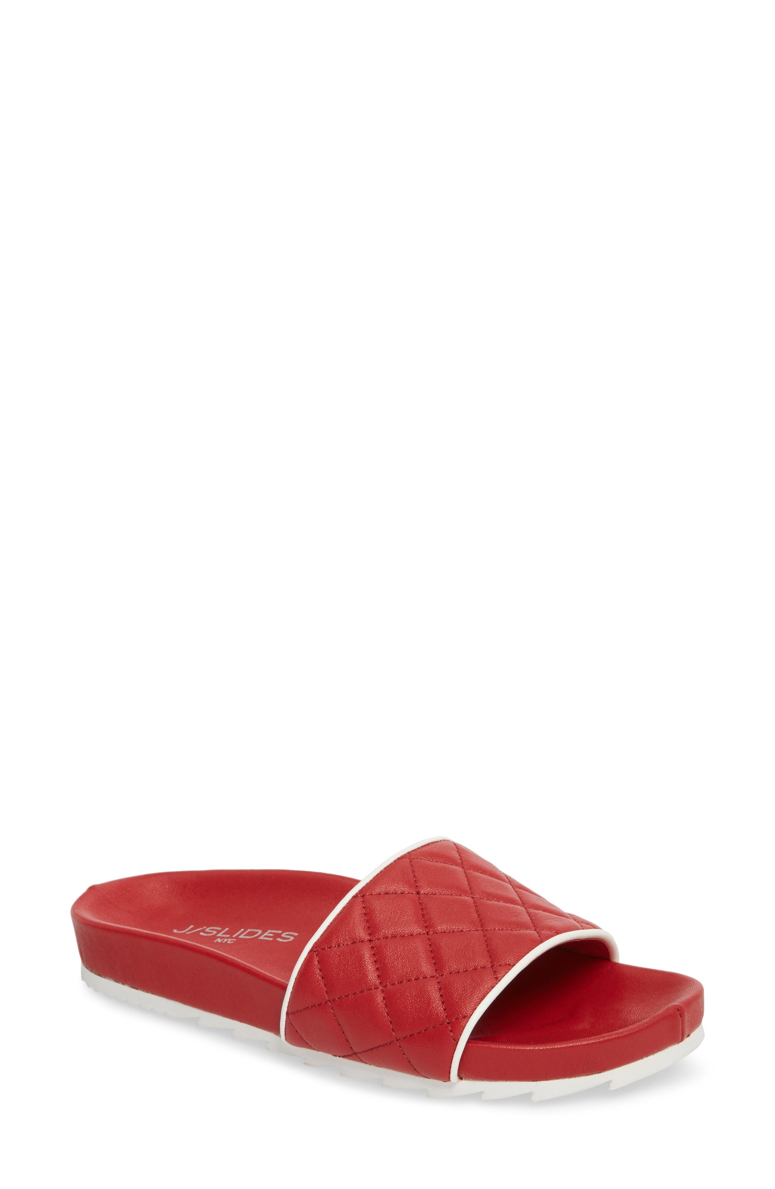 Jslides Edge Slide Sandal- Red