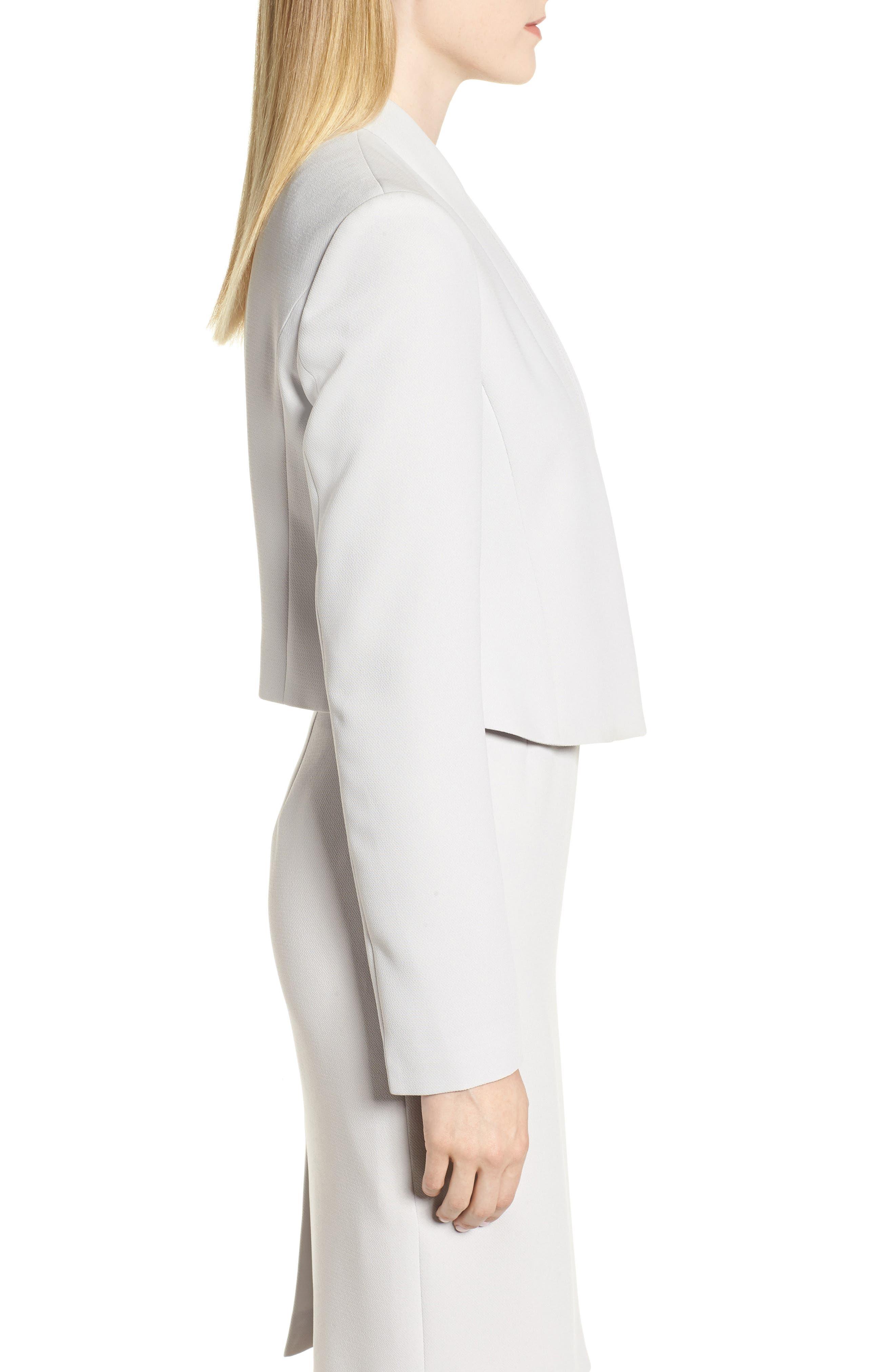 Jasika Crop Suit Jacket,                             Alternate thumbnail 3, color,                             021
