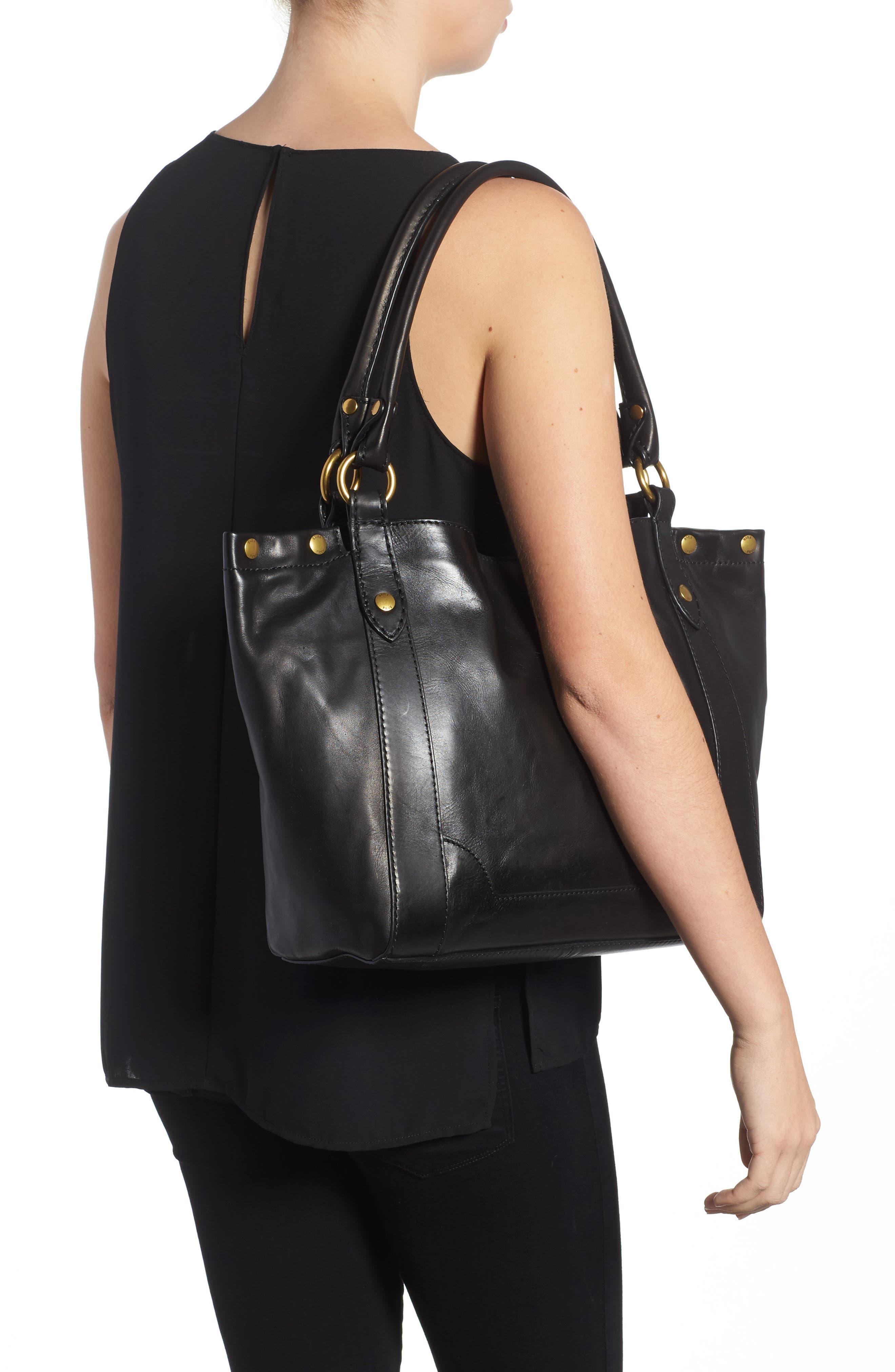 Melissa Leather Shoulder Bag,                             Alternate thumbnail 4, color,