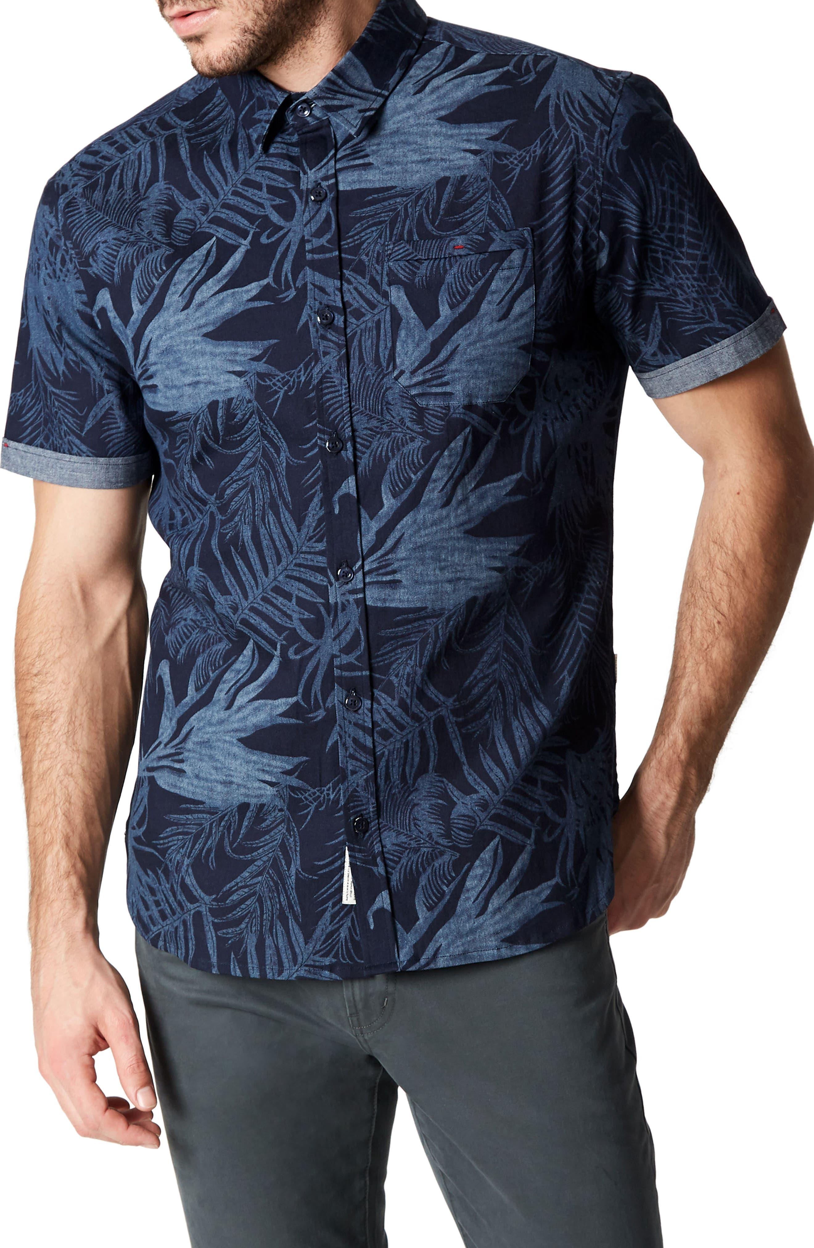 Feeling Good Woven Shirt,                         Main,                         color, NAVY