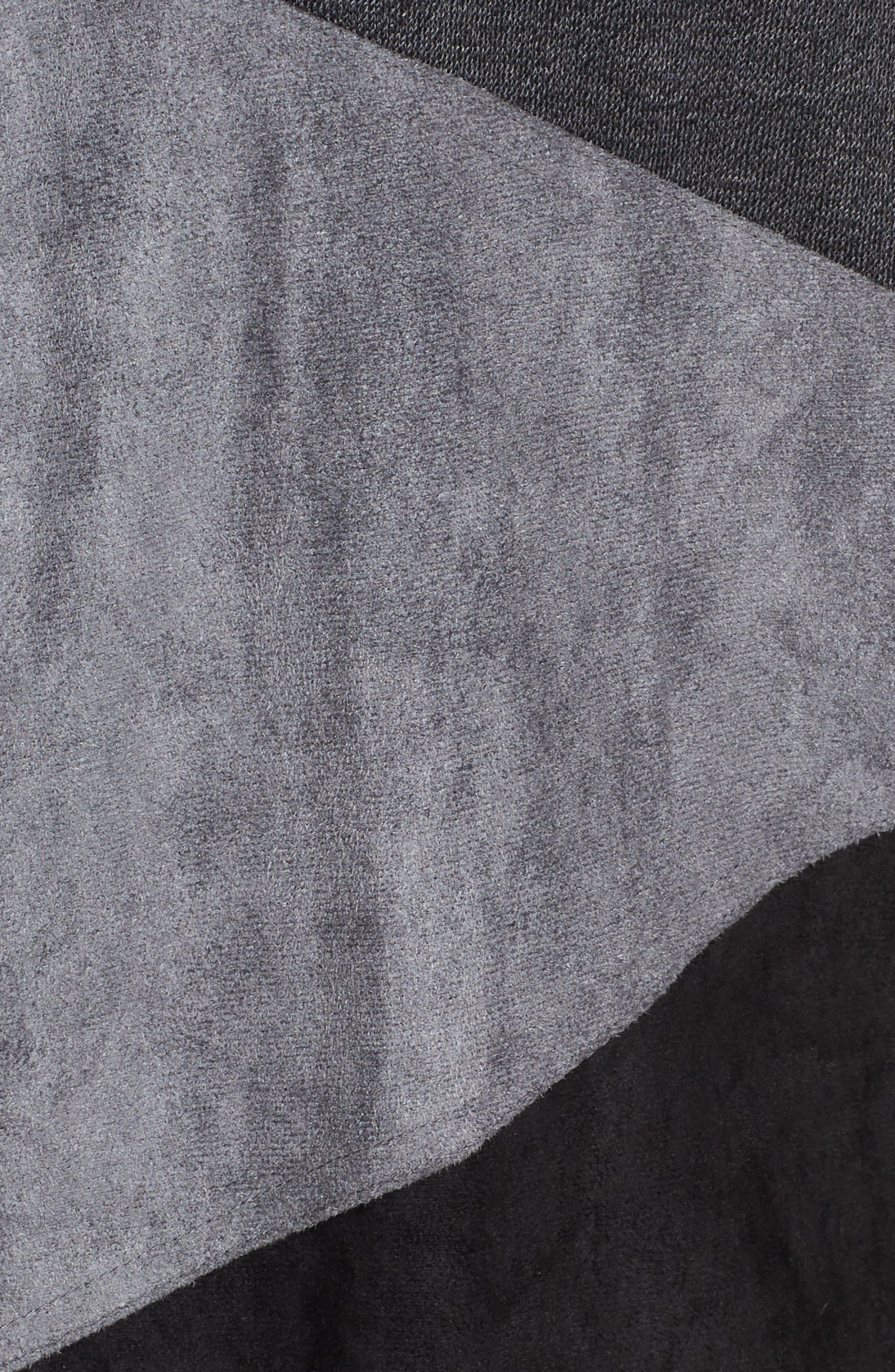 MING WANG,                             Colorblock Knit Jacket,                             Alternate thumbnail 7, color,                             BLACK/ GRANITE