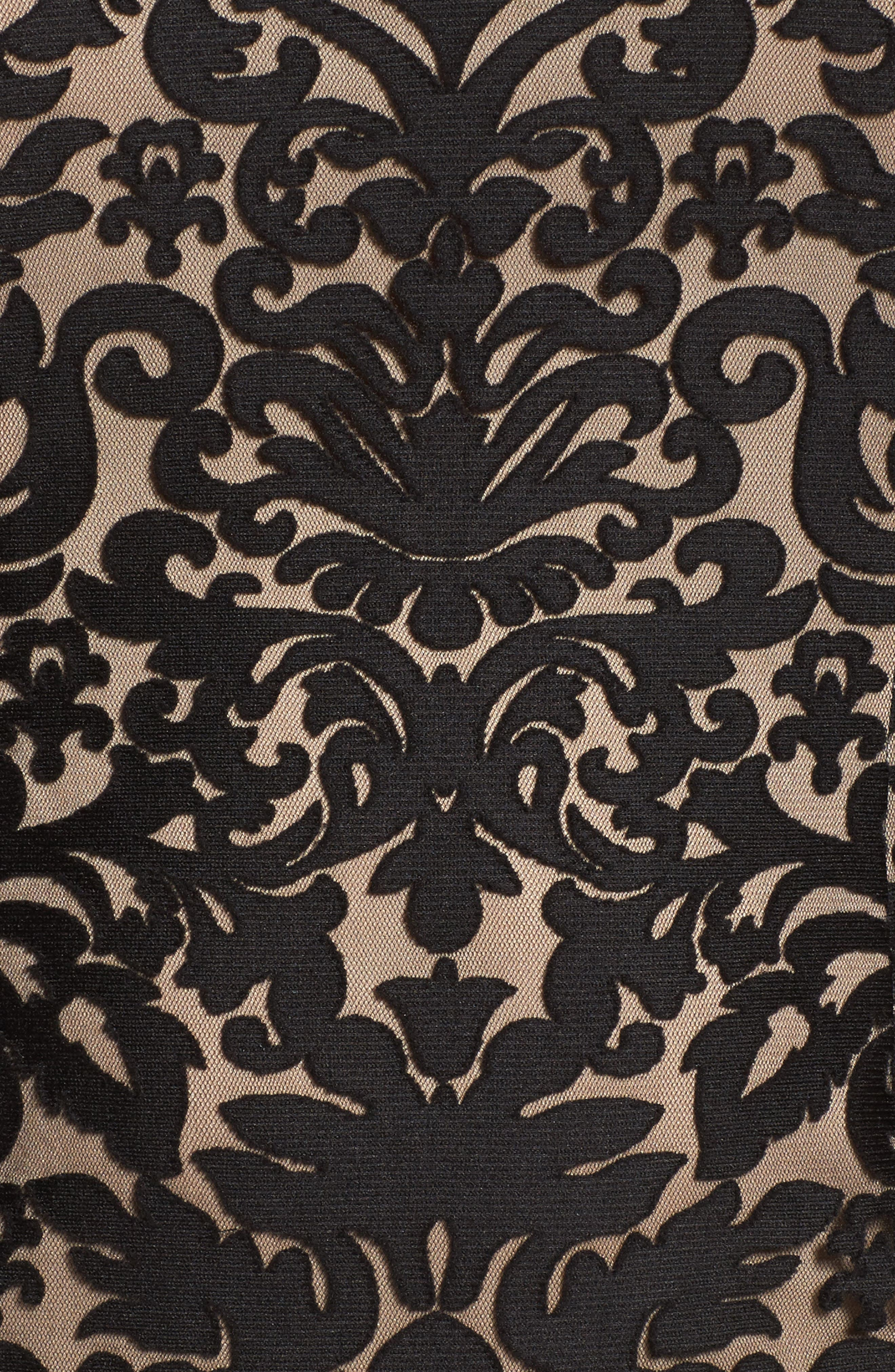 Lace Bell Sleeve Sheath Dress,                             Alternate thumbnail 6, color,                             012