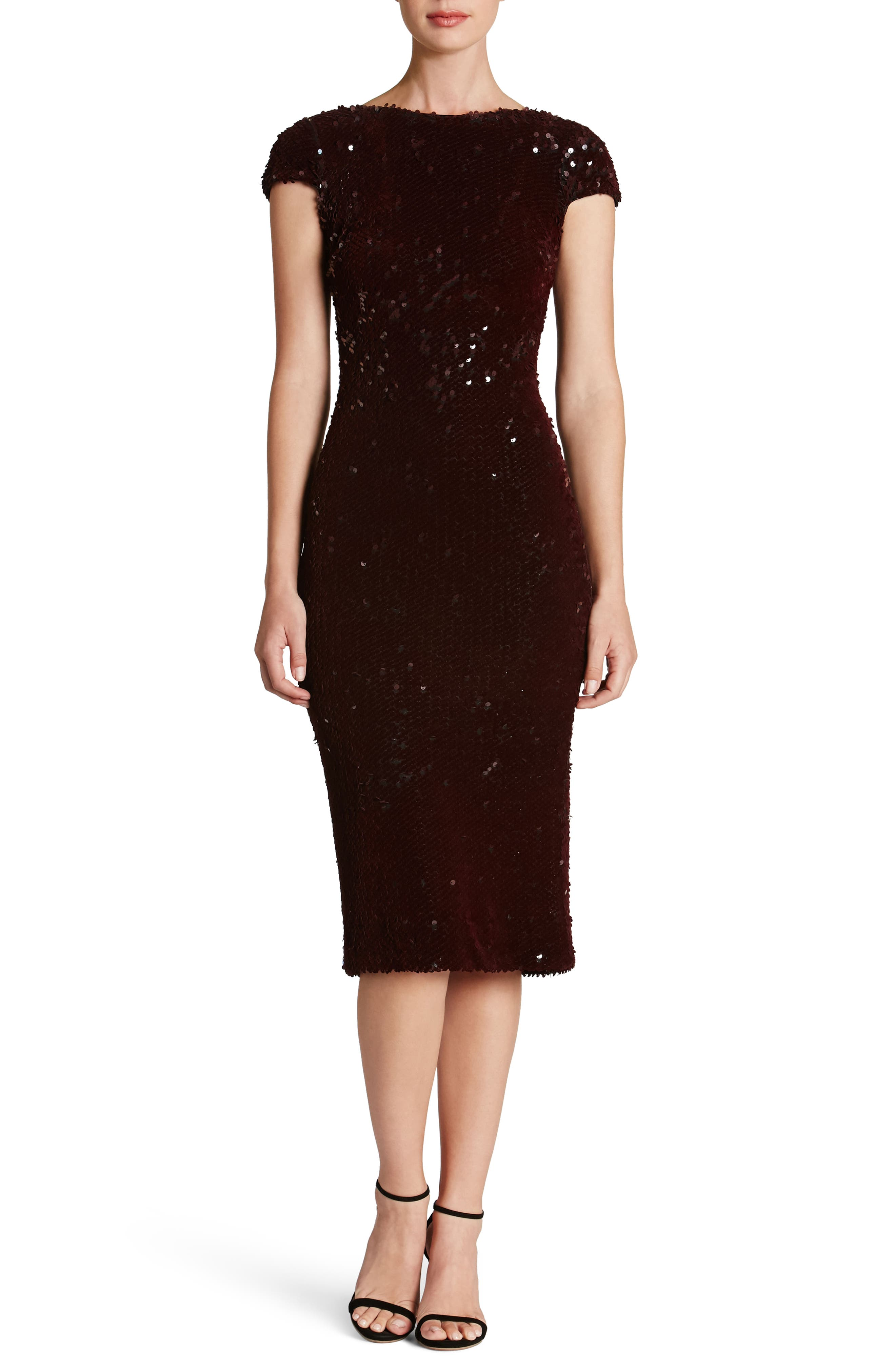 Marcella Sequin Body-Con Dress,                             Main thumbnail 3, color,