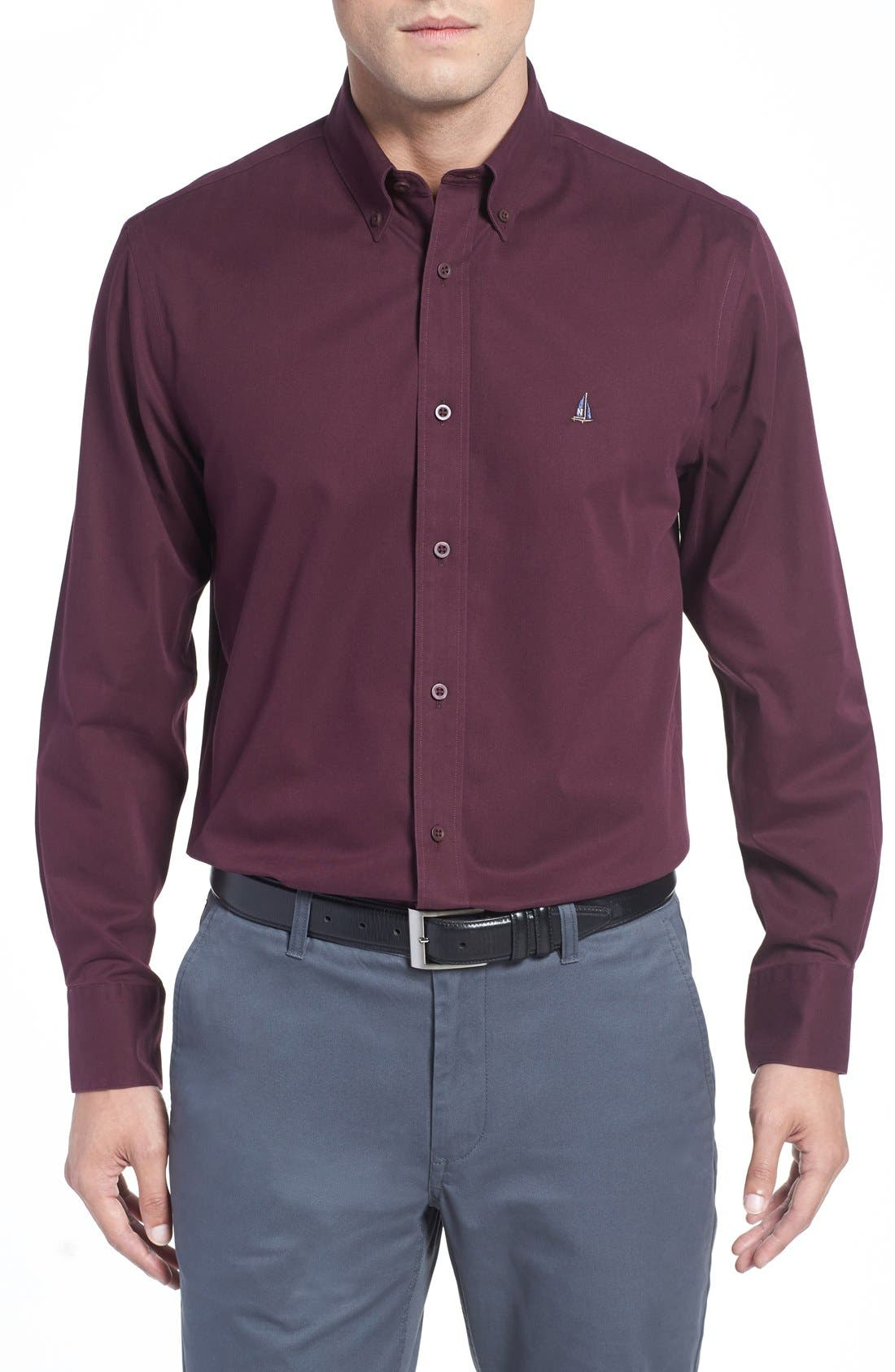Smartcare<sup>™</sup> Traditional Fit Twill Boat Shirt,                             Main thumbnail 38, color,