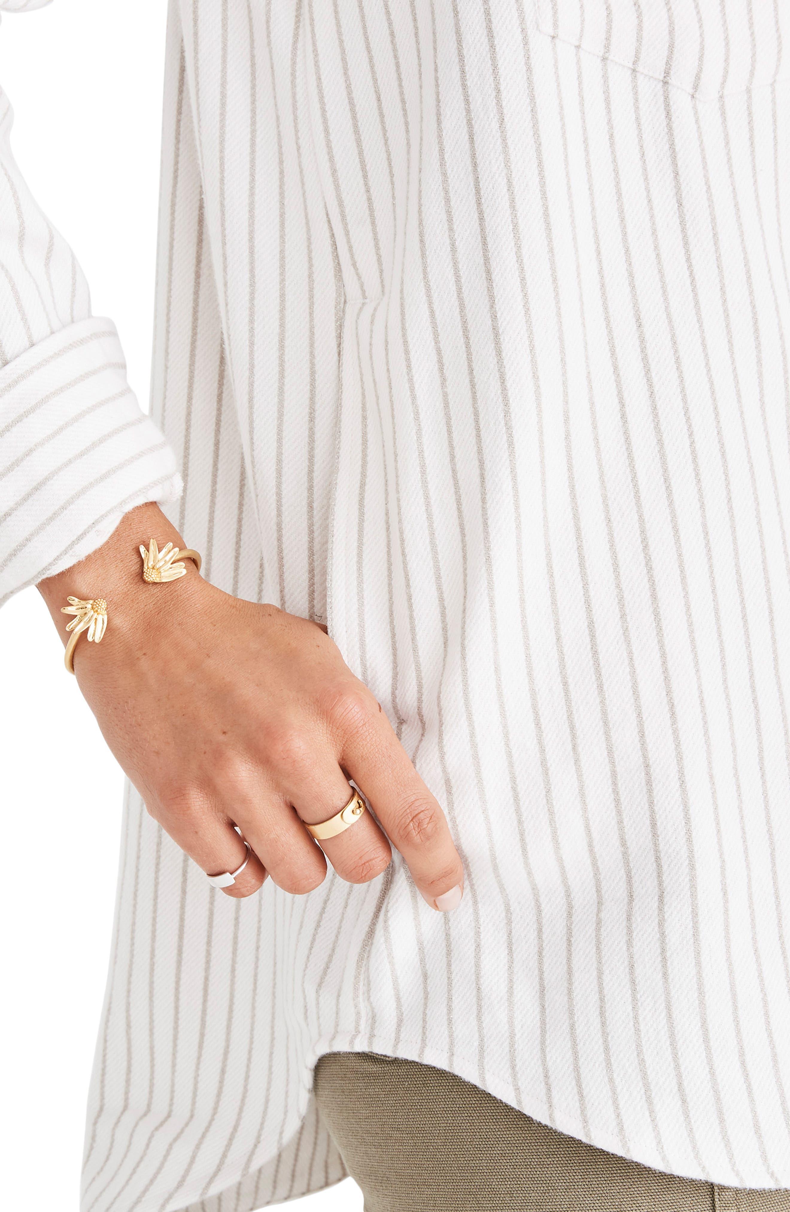 Sunday Stripe Flannel Shirt,                             Alternate thumbnail 4, color,                             900