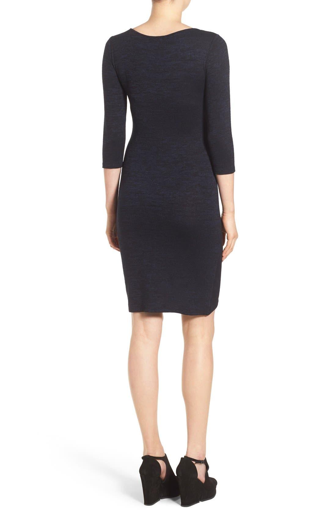 V-Neck Ruched Dress,                             Alternate thumbnail 10, color,