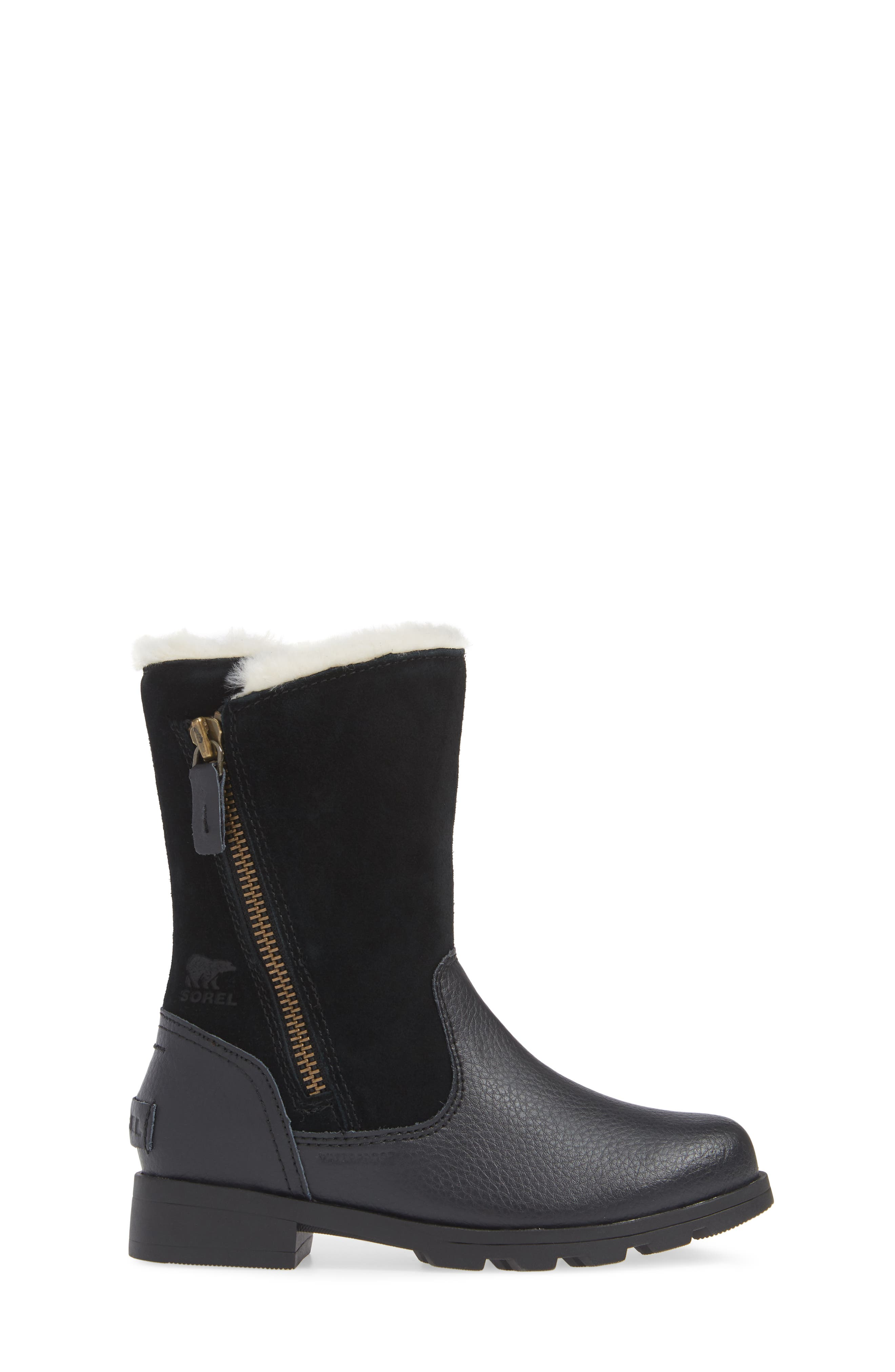 Emelie Waterproof Faux Fur Lined Boot,                             Alternate thumbnail 3, color,                             010
