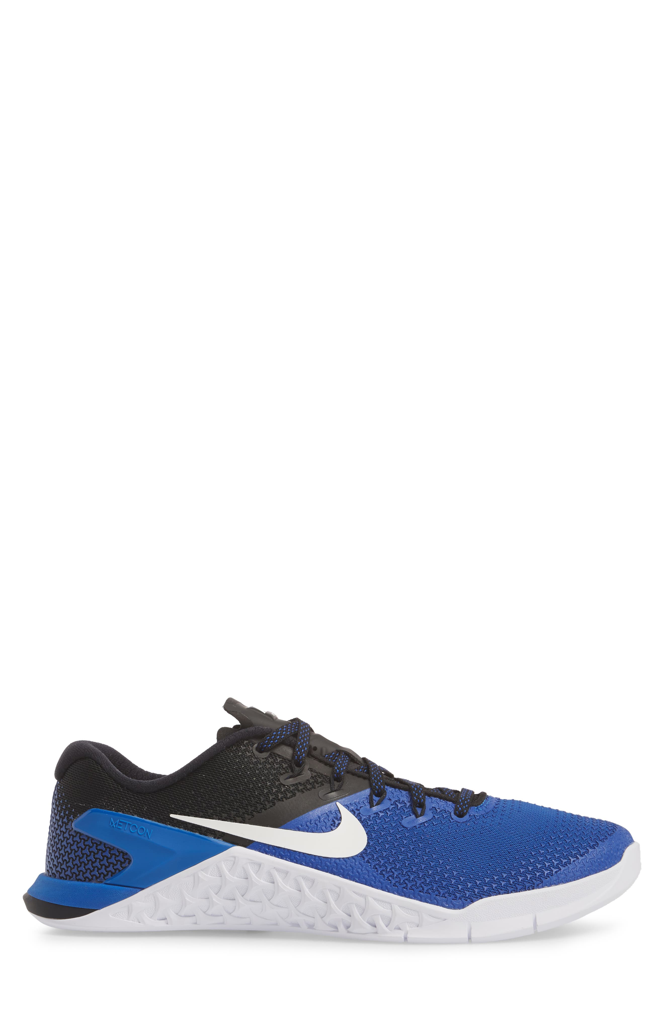 Metcon 4 Training Shoe,                             Alternate thumbnail 3, color,                             GAME ROYAL/ WHITE/ BLACK