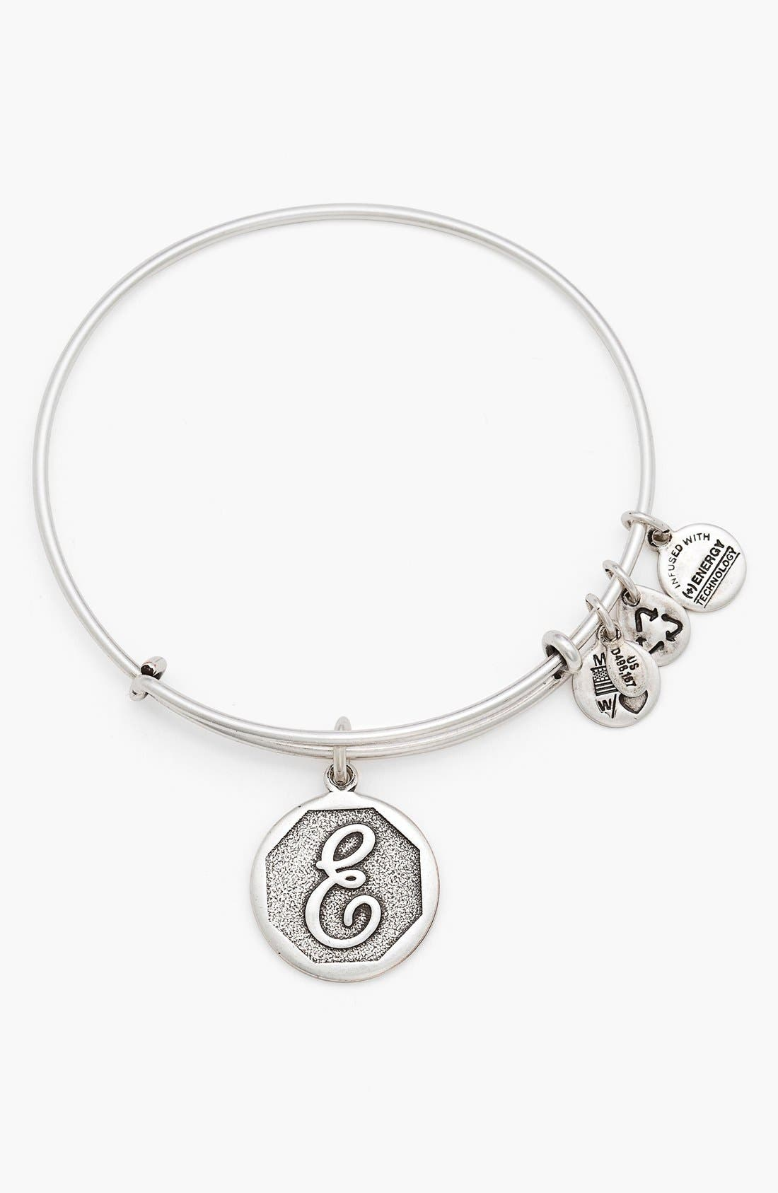 'Initial' Adjustable Wire Bangle,                             Main thumbnail 6, color,