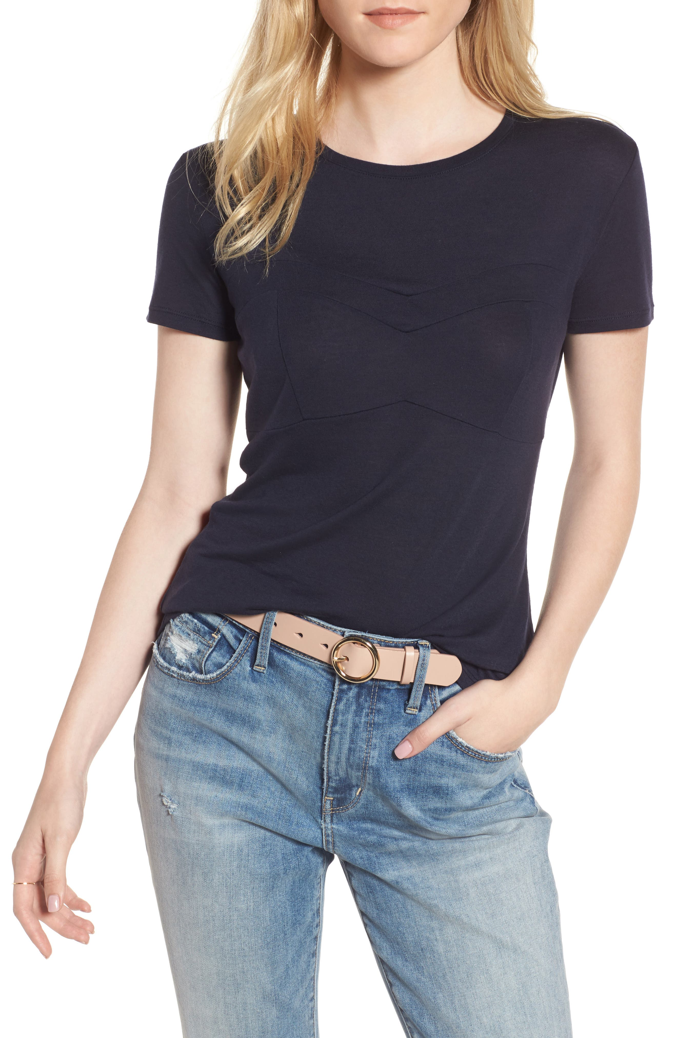 Bust Detail Tee,                         Main,                         color, 400