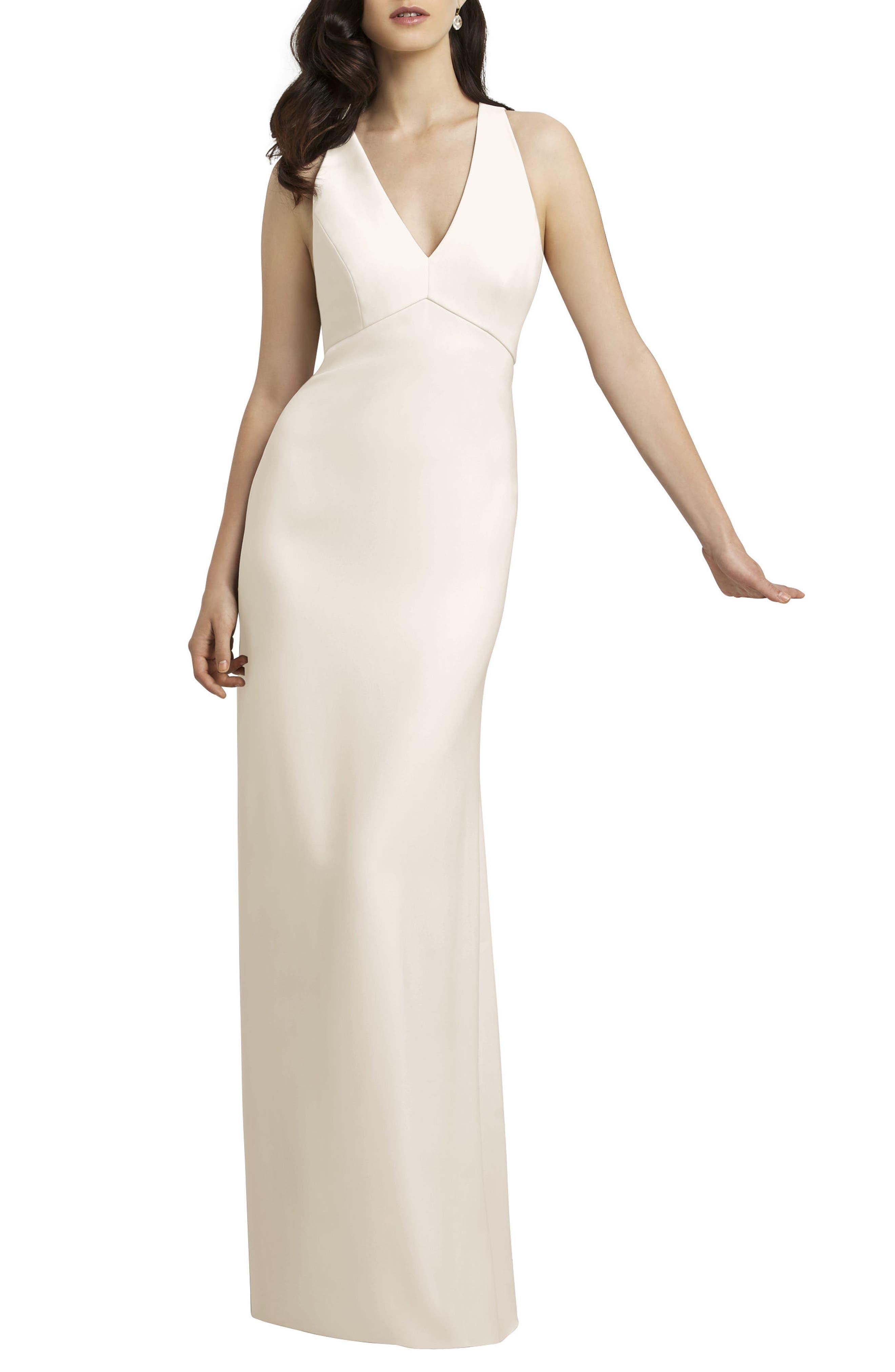 Crepe Gown,                             Alternate thumbnail 6, color,