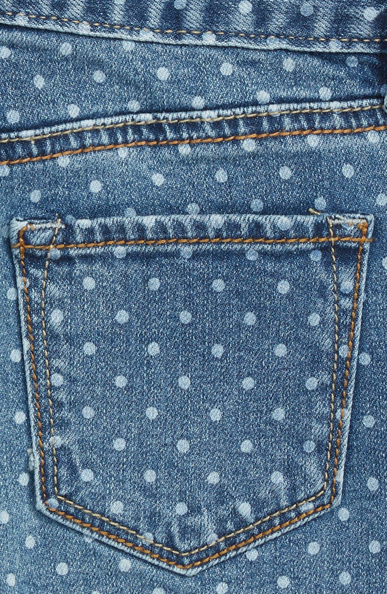 Griffin Dot Cutoff Denim Shorts,                             Alternate thumbnail 3, color,
