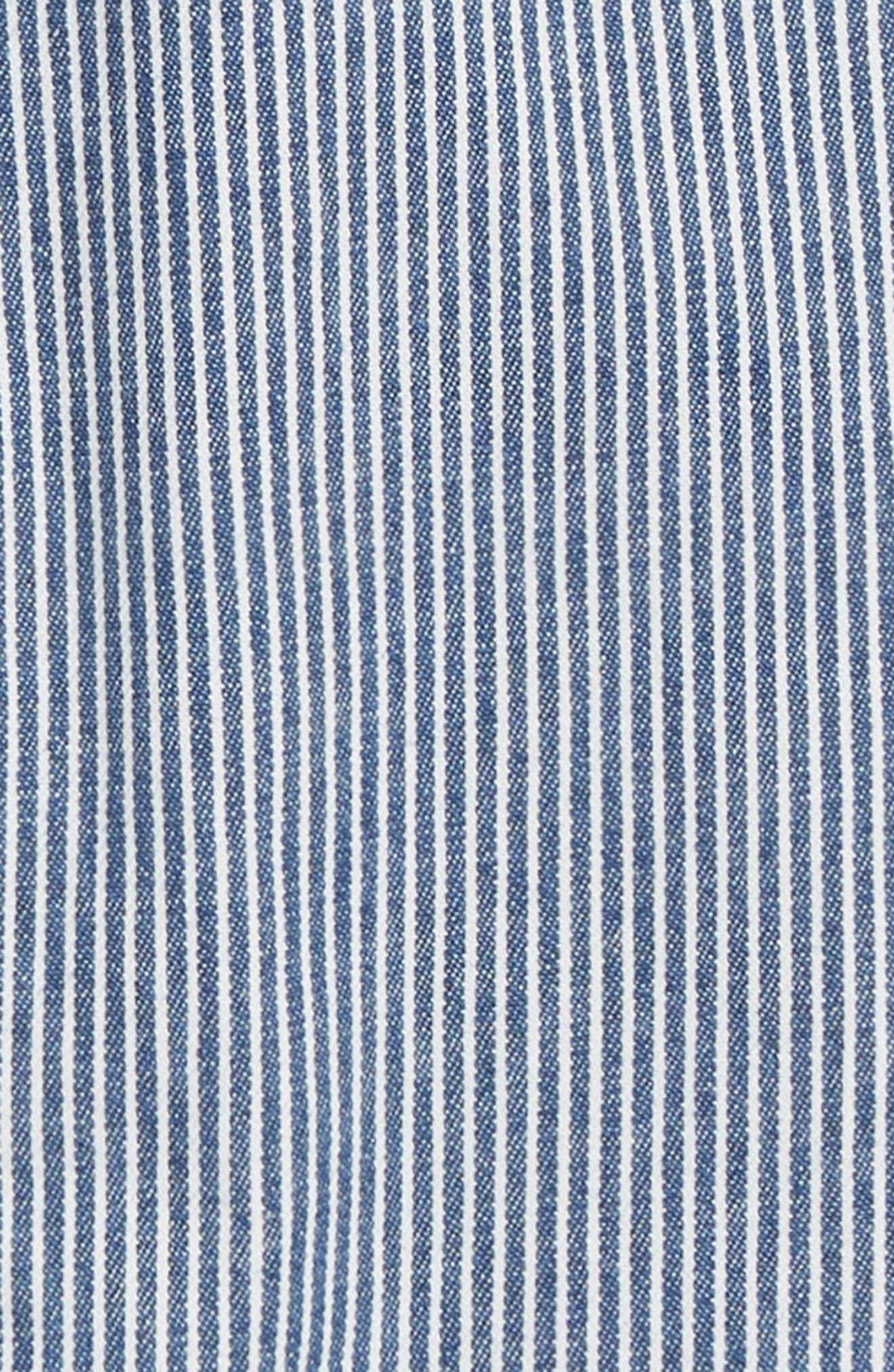 Ticking Stripe Chino Pants,                             Alternate thumbnail 2, color,                             BLU DUKE BLUE TICKING