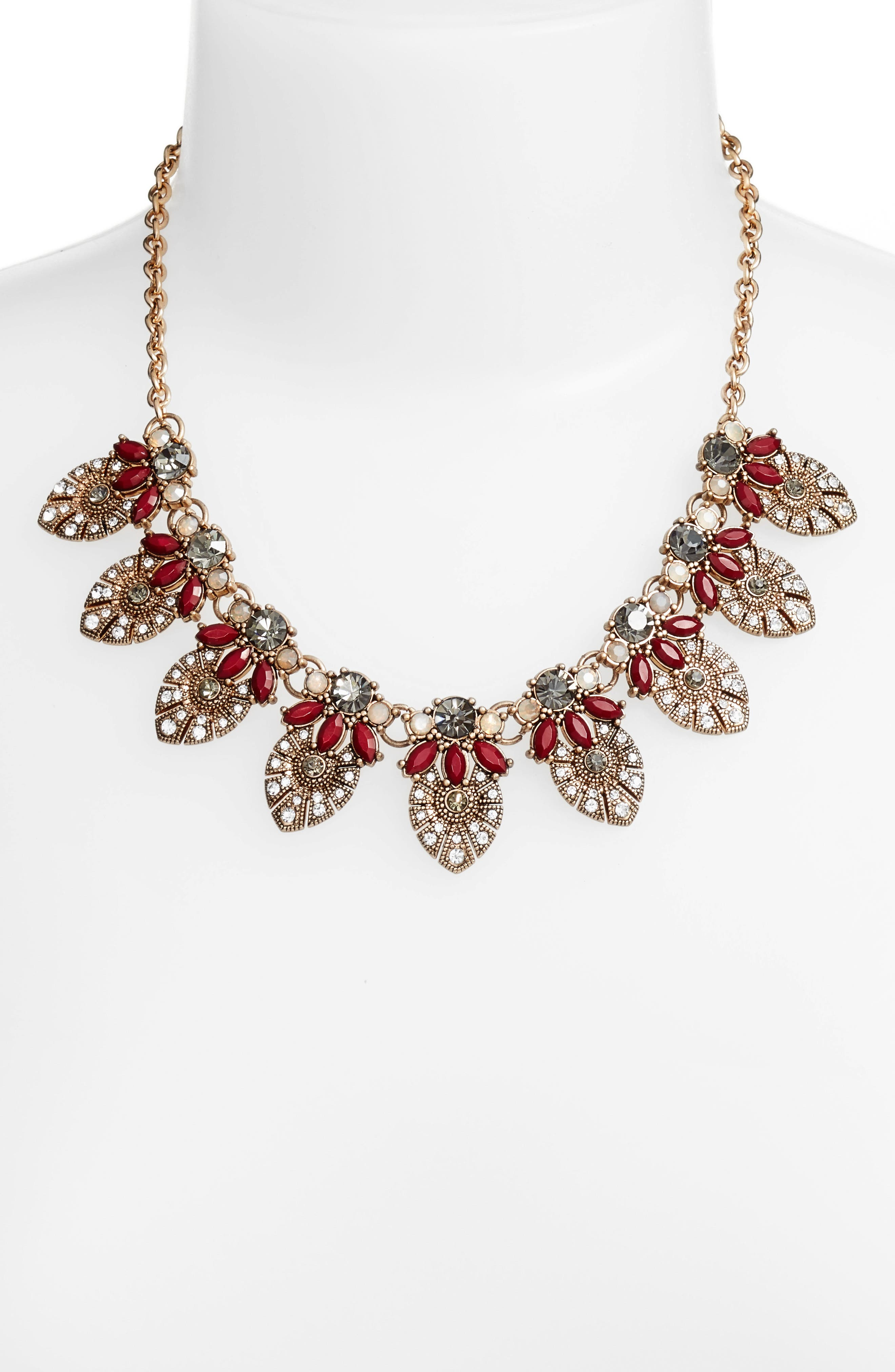 Crystal Bib Necklace,                             Alternate thumbnail 4, color,