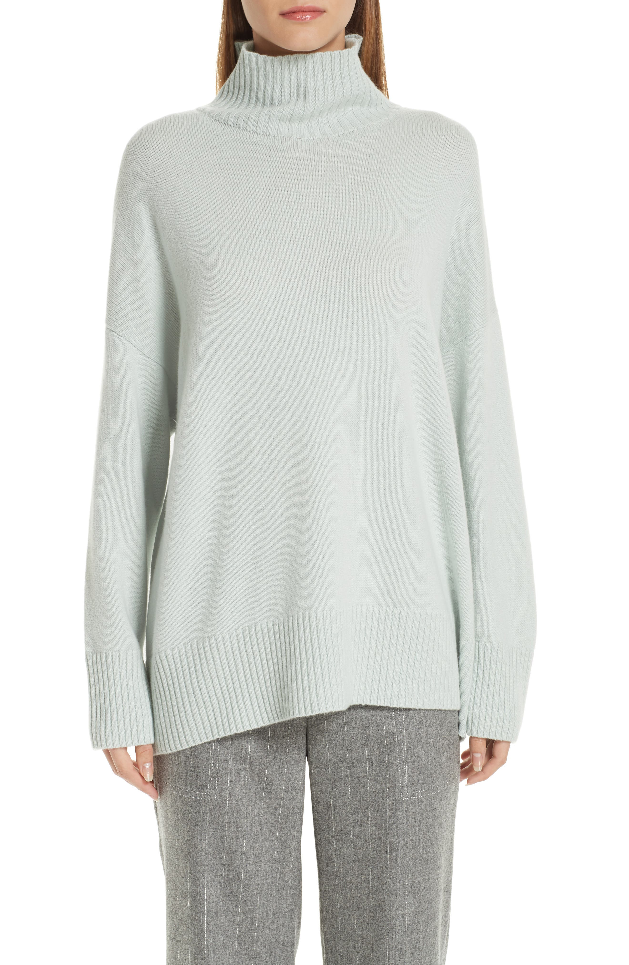 LAFAYETTE 148 NEW YORK Relaxed Cashmere Turtleneck Sweater, Main, color, 400